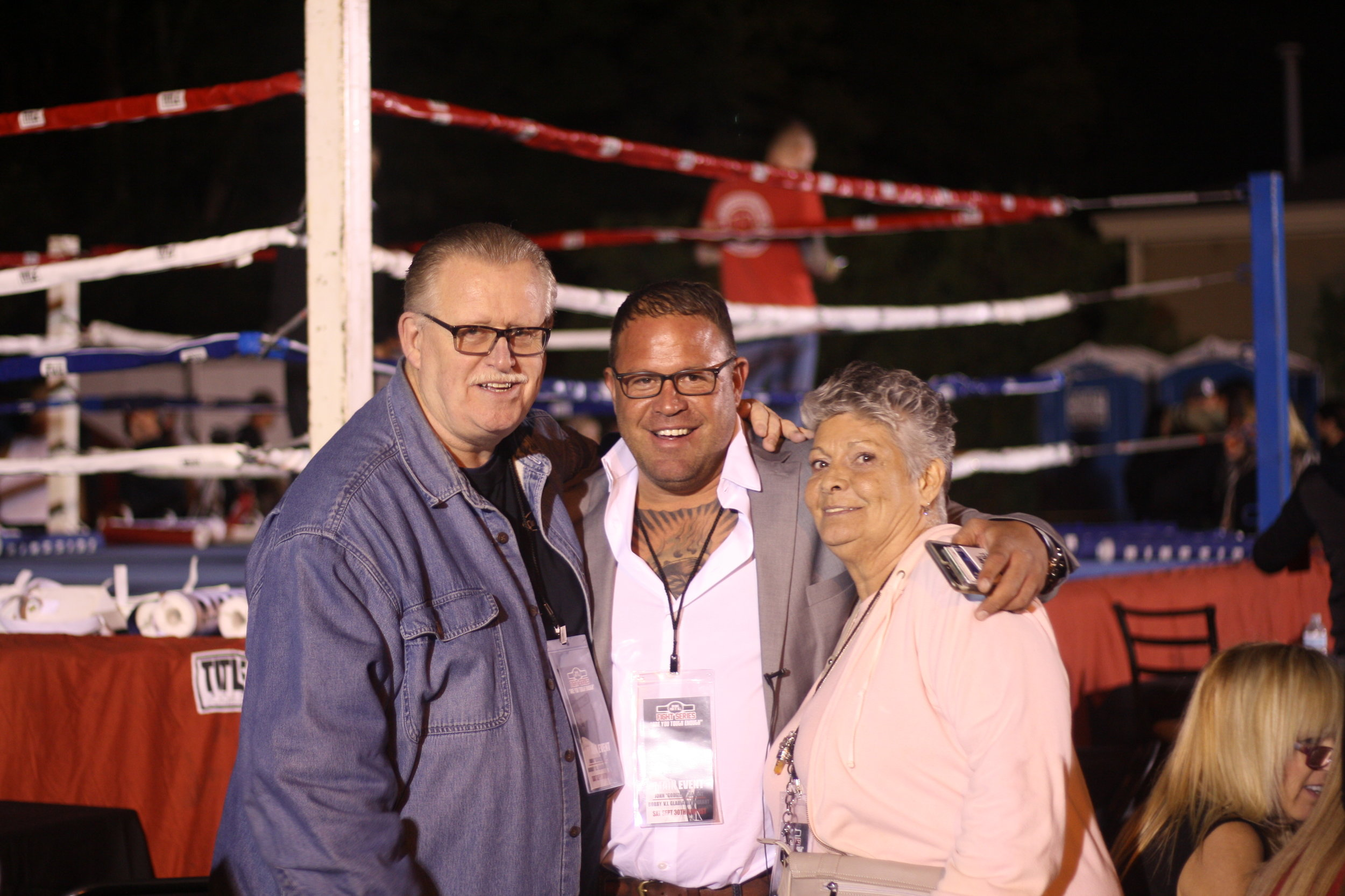 The latest installment of Brawl For It All drew hundreds of spectators, including Jarrod's mother and father.  Photo by Rob Szypko.