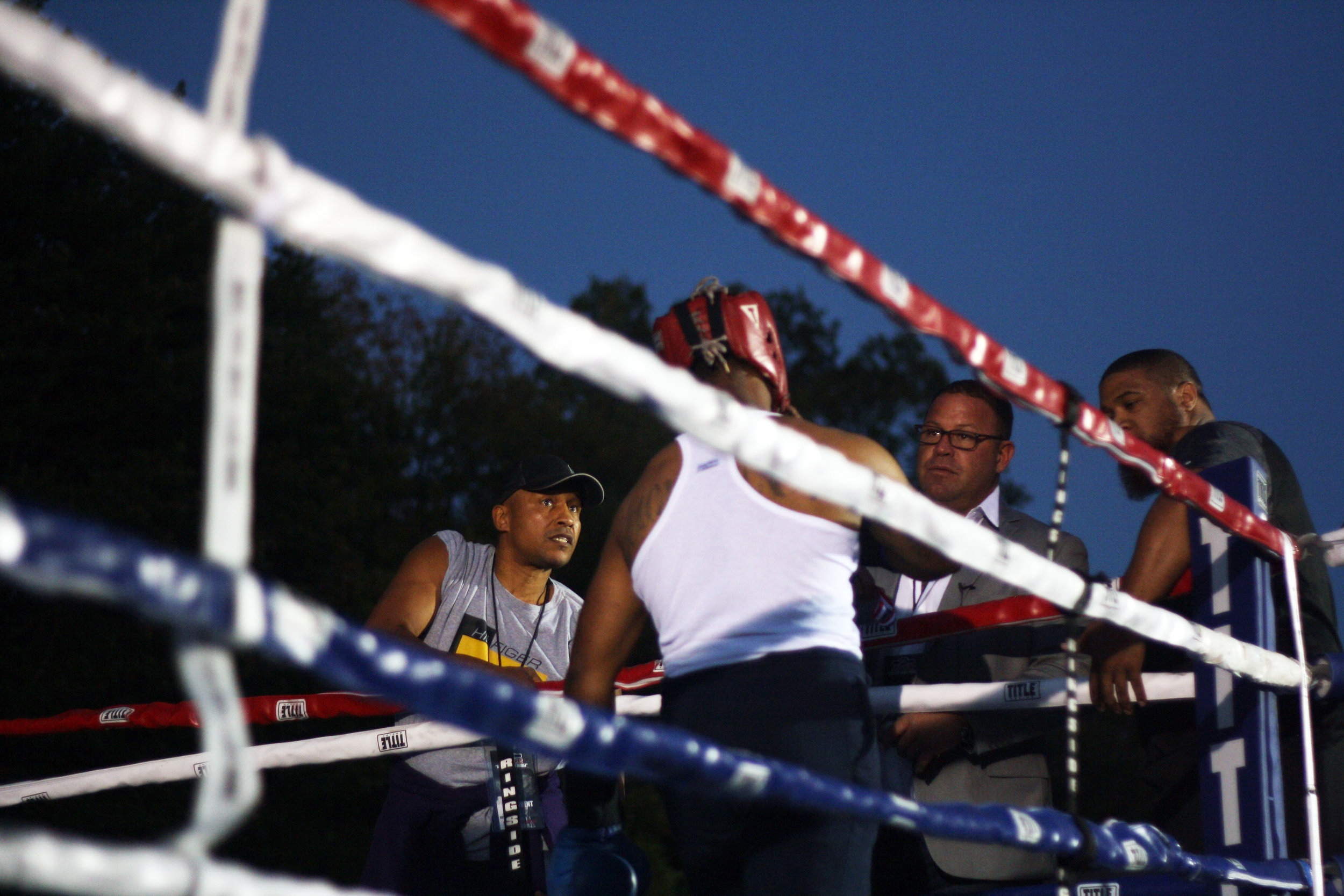 Jarrod, now 43 years old, stays close to the ring as a promoter of Brawl For It All, an amateur boxing series he co-founded. The most recent installment was held in October 2017, in the parking lot of an Italian restaurant in Woonsocket, Rhode Island.  Photo by Rob Szypko.