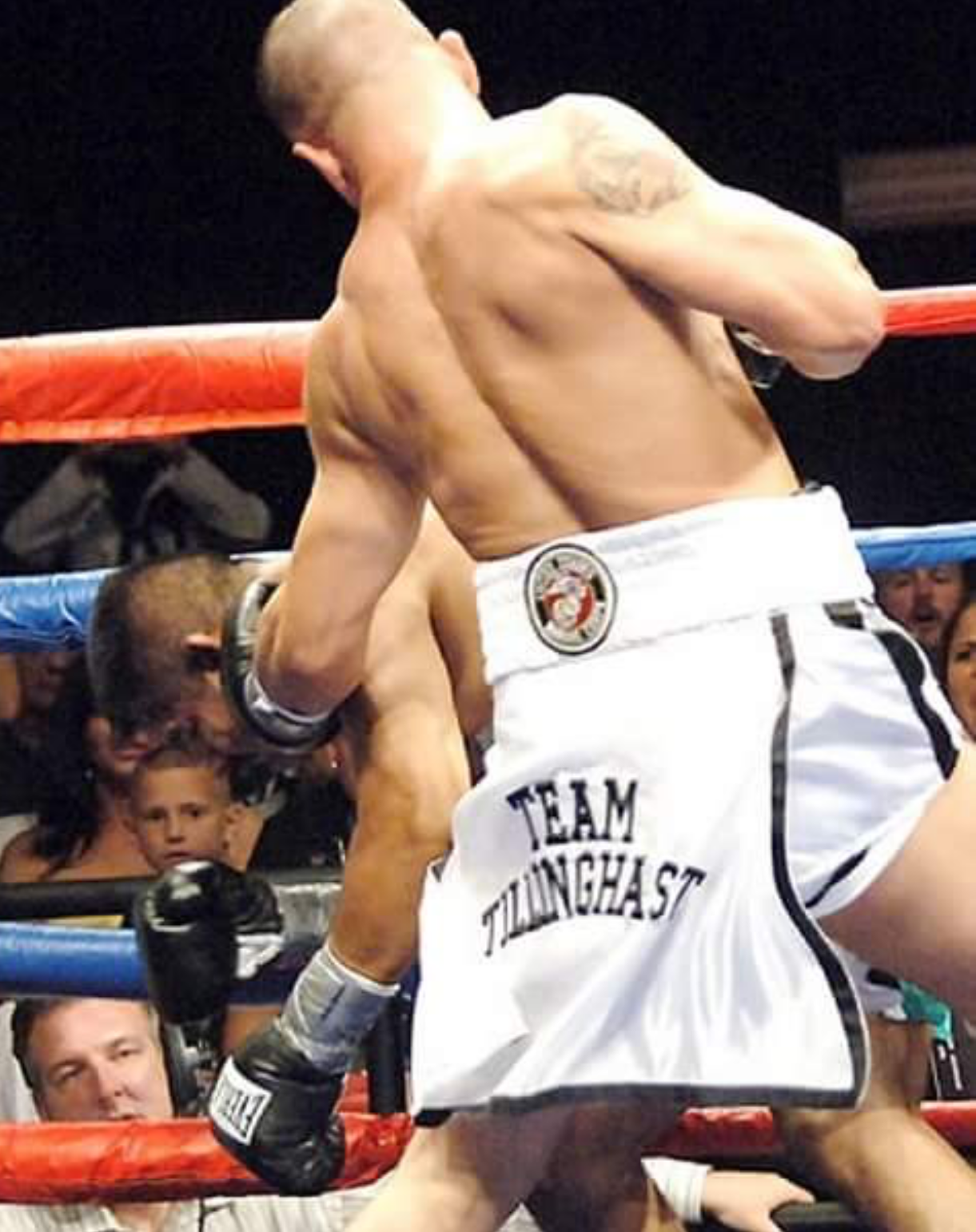Jarrod's left hook was an especially powerful weapon in the ring.  Courtesy of Jarrod Tillinghast.