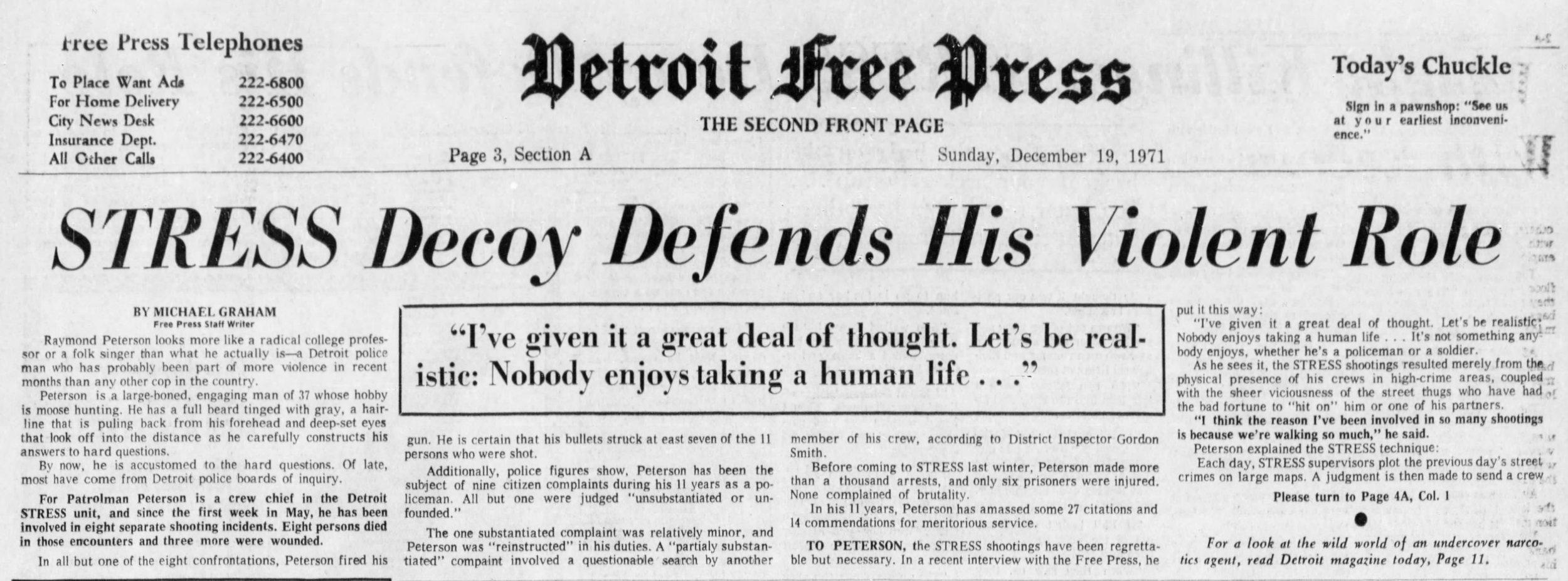 1971_12_19_STRESS Decoy Defends His Violent Role_DFP.jpg