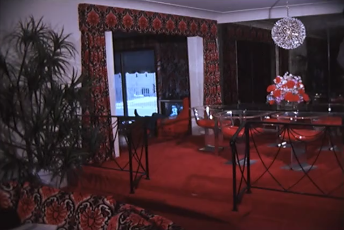 Inside Eddie Jackson's house in Southfield, the lavish interior design styles of the 1970s were on full display.  Courtesy of the Walter P. Reuther Library at Wayne State University.