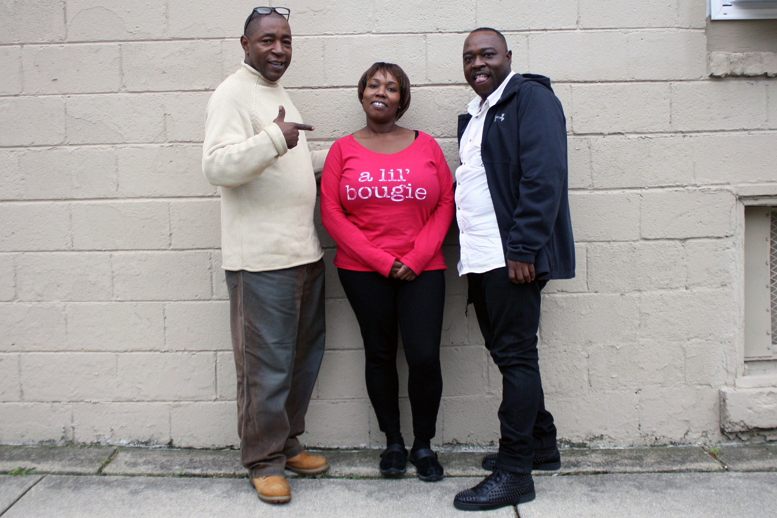 Though they no longer live in Southfield, Courtney Brown Jr., Patricia Jackson, and Eddie Jackson Jr. remain close to this day.  Photo by Rob Szypko.