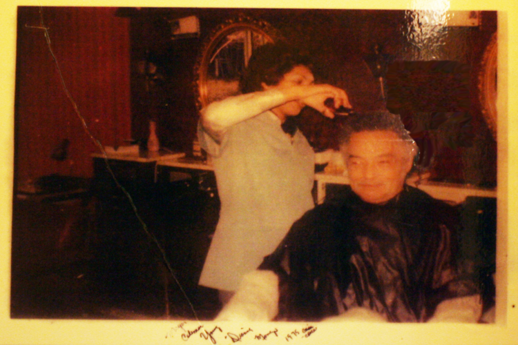 Dianne Mongo was Mayor Coleman Young's barber at Jack's Barber Lounge for years. The two grew close, and Dianne eventually became the mayor's confidante, passing along messages to the streets when needed. Courtesy of Dianne and Larry Mongo.