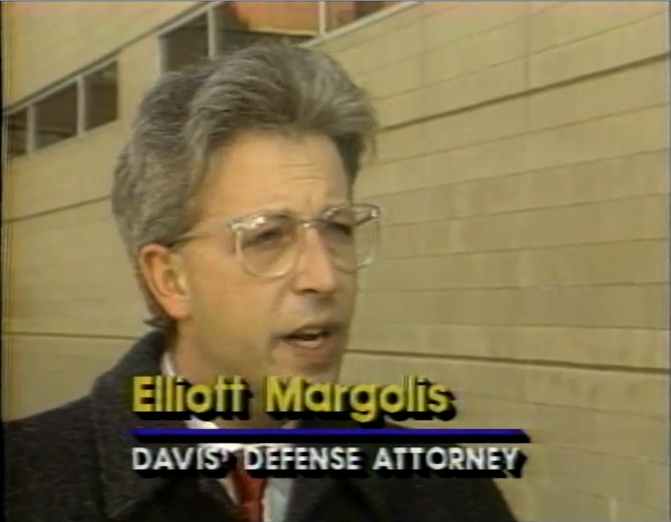 Elliot Margolis was LeKeas Davis's lawyer.   He was convinced that LeKeas Davis was innocent, but he initially had trouble getting the case dismissed. Davis spent almost ten months in jail.  Courtesy of Vince Wade.