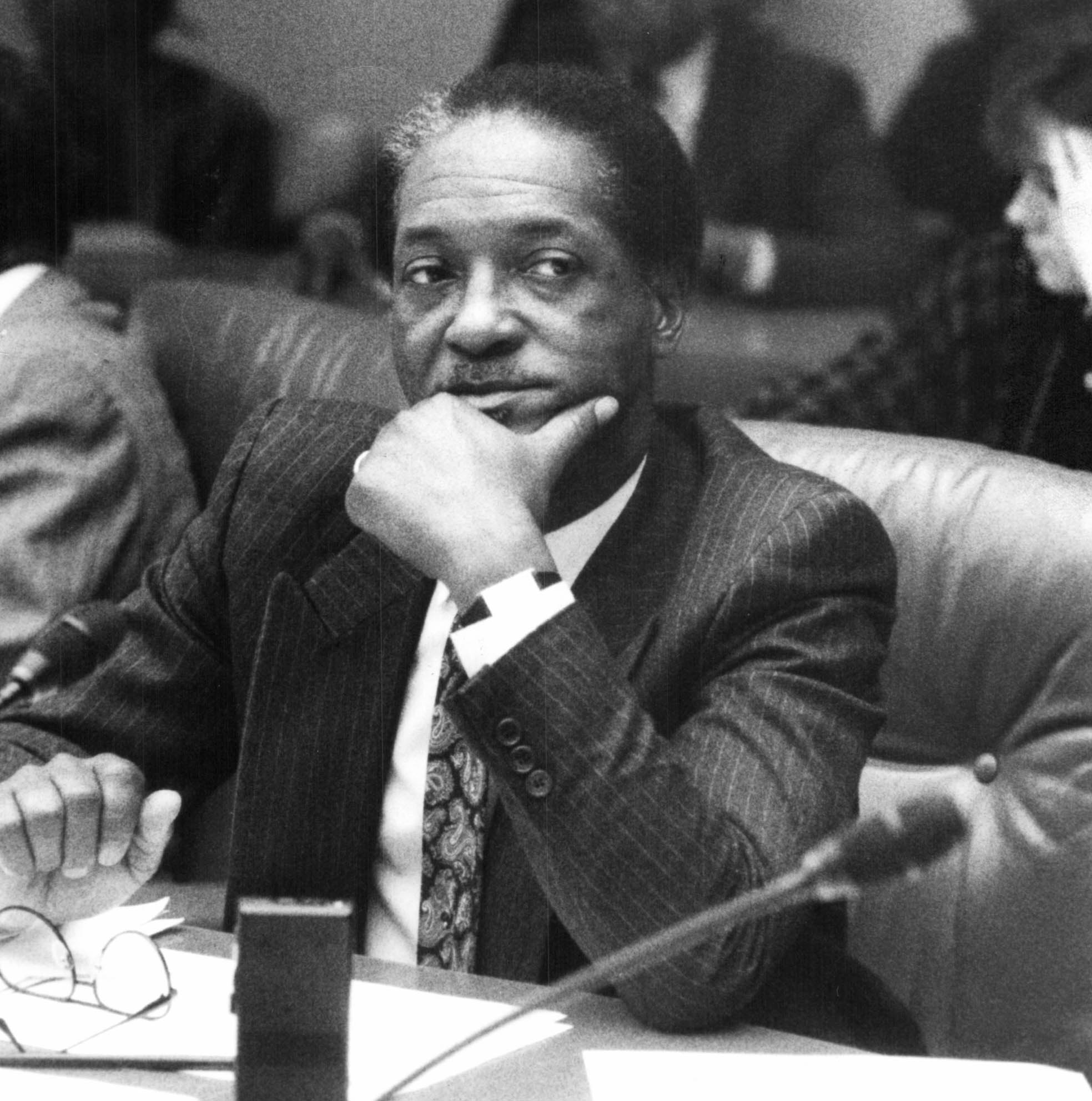 Groman began to suspect that the corruption at the Detroit Police Department went as high as Gil Hill, who oversaw the homicide department. Hill maintained that he did not tip off the Curry drug organization. But Johnny Curry later admitted to regularly bribing Hill.  Courtesy of the Detroit Free Press.