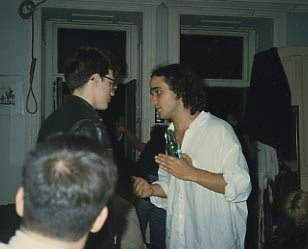Dimitri and other members of Leisure Class moved to New York to see if they could take their music career to the next level. Dimitri lived at the Hotel Chelsea, which was home to many other artists and musicians. Heroin was a regular presence at the hotel, and Dimitri's drug habit worsened.  Courtesy of Dimitri Mugianis / Donna Johnson.