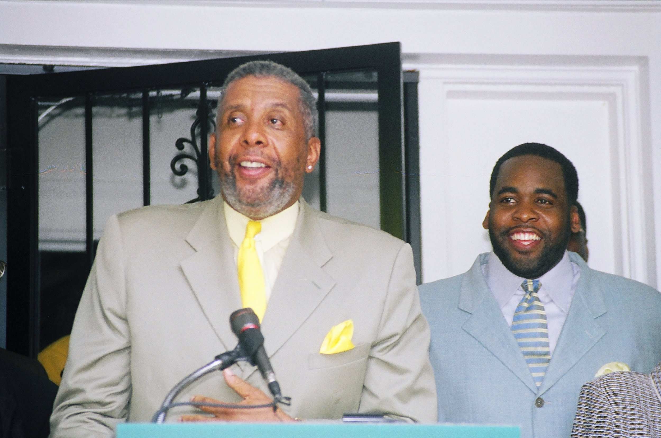 Kwame's father, Bernard, had built his political career advising campaigns and working in a series of roles in the Wayne County government.  Courtesy of Tim and Tobias Smith.