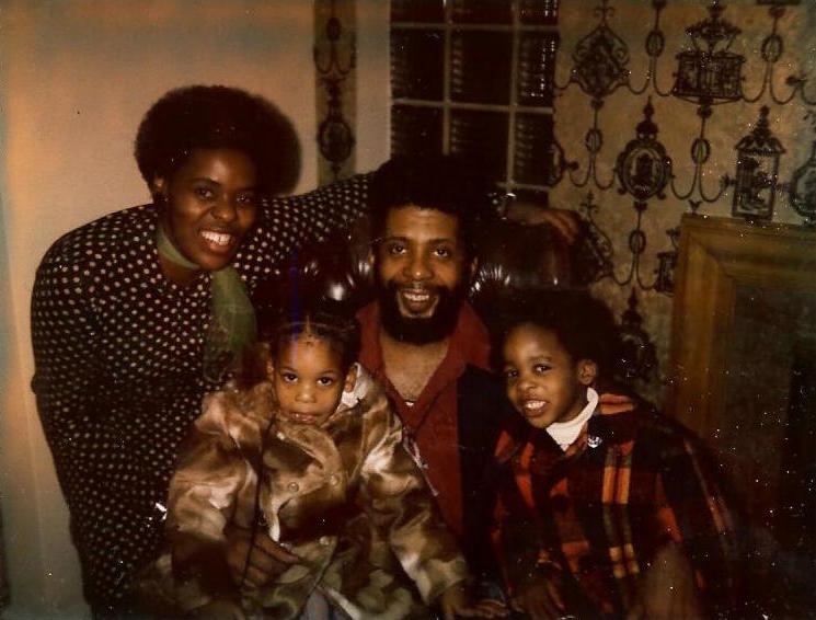 From a very young age, Kwame Kilpatrick, right, helped out with his parents' political campaigns, handing out campaign materials and attending rallies.  Courtesy of Tim and Tobias Smith.
