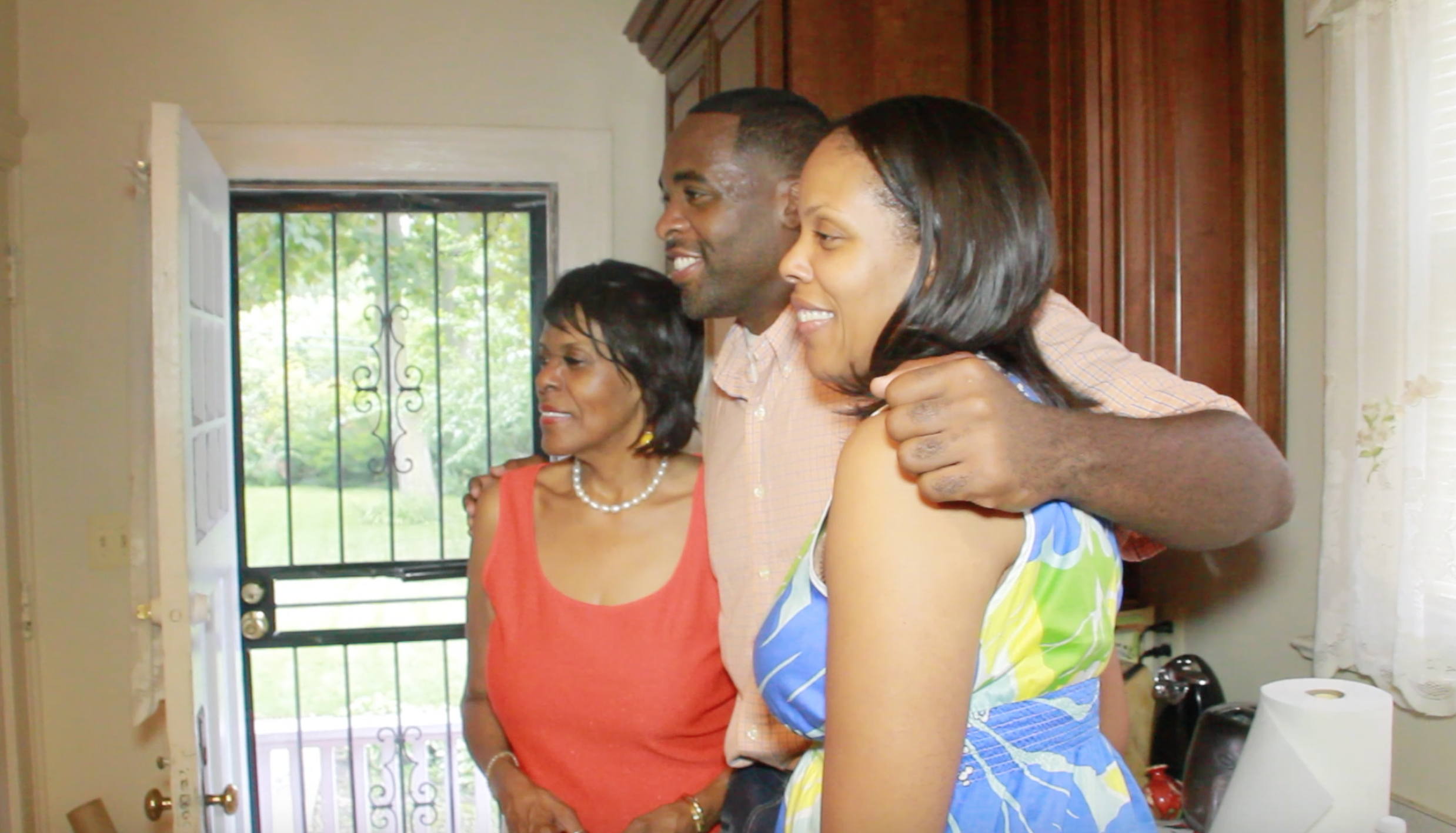 The day Kwame Kilpatrick is released from prison in 2011, his mother, Carolyn Cheeks Kilpatrick, left, hosts a party to celebrate.  Courtesy of Tim and Tobias Smith.