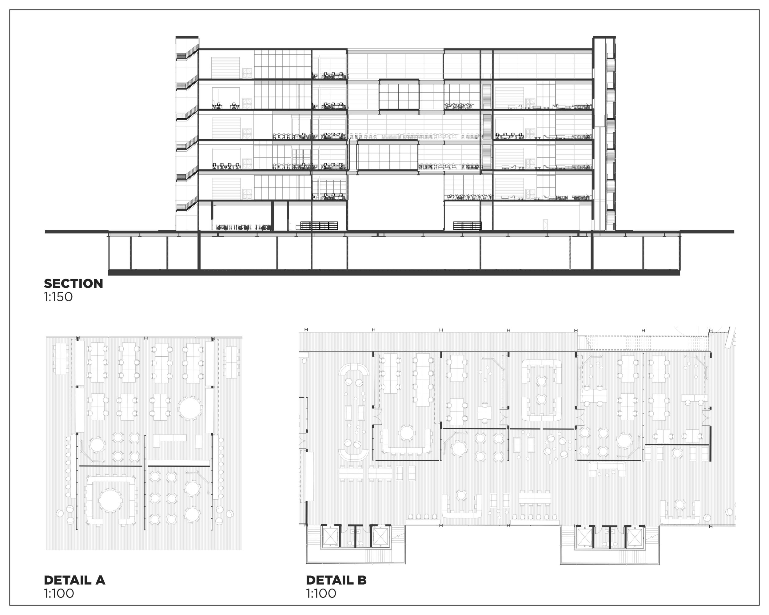 Transverse Section and 2nd Floor Plan Details.
