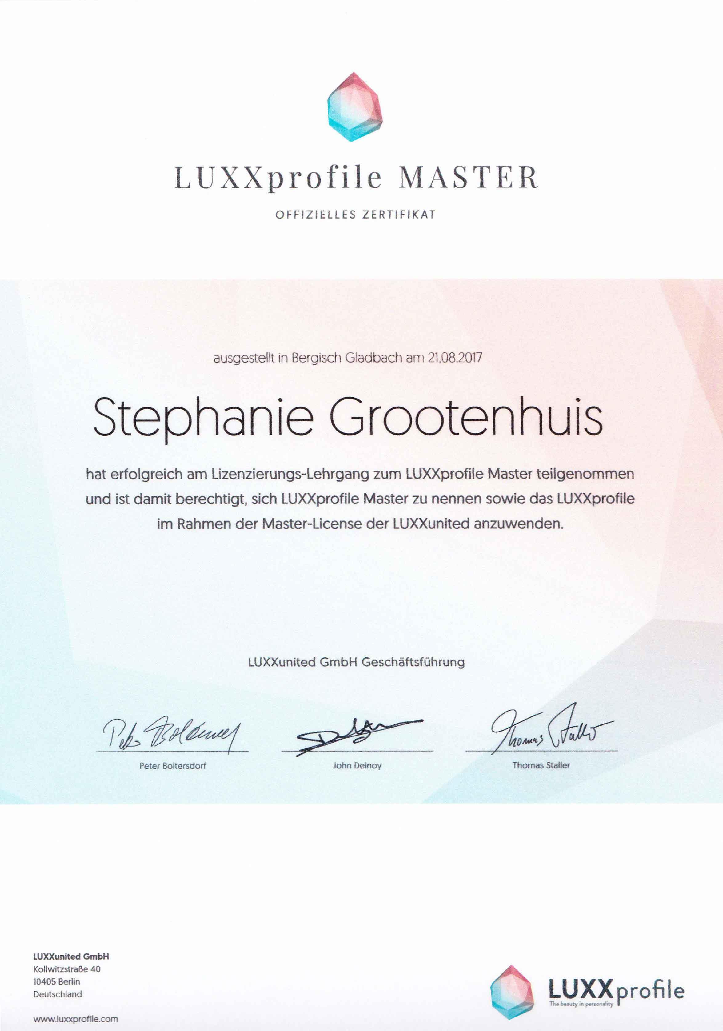 LUXXprofile Master www.luxxprofile.com/de
