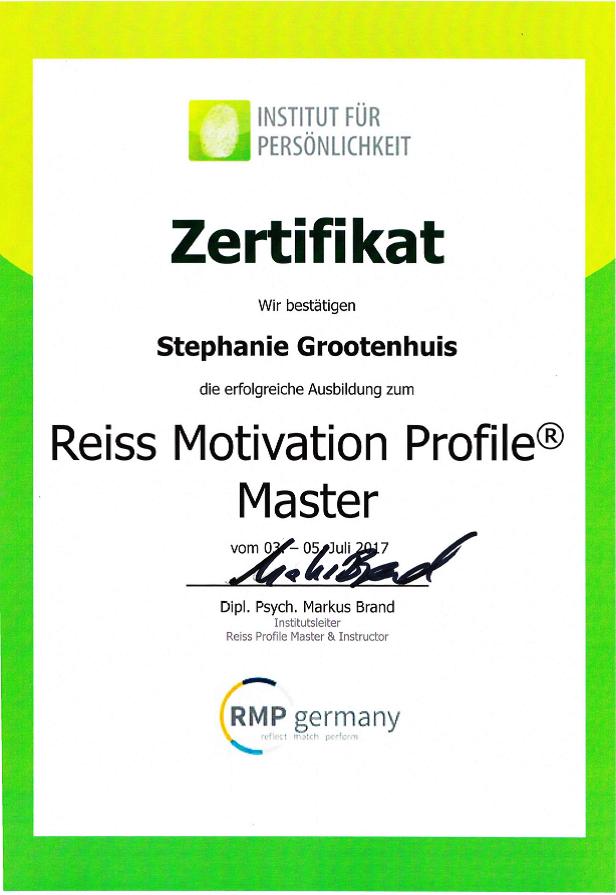 REISS Motivation Profile Master https://www.rmp-germany.com/