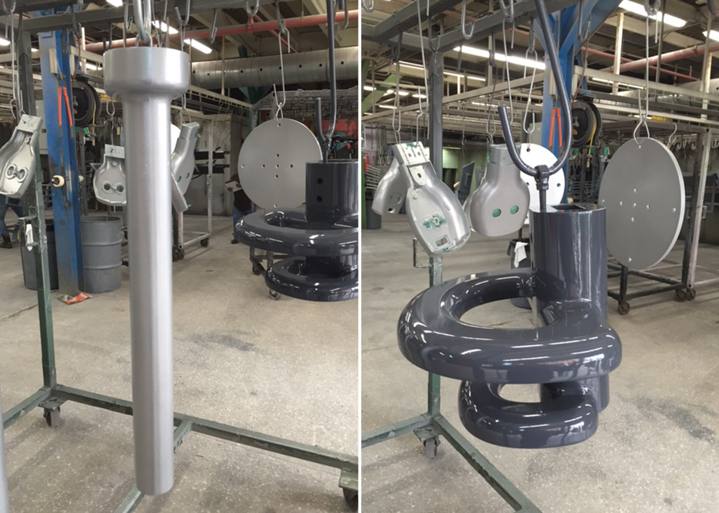 Made in the USA - Zinc Casting in Colorado, Iron Casting in Detroit, Powder Coating in Brooklyn, Machining in Chicago, Engineering and Mechanism Assembly in New York City