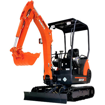 KX41-3V COMPACT EXCAVATOR  Gross Power: 17 hp Operating Weight: 3,700 lbs              View Specifications