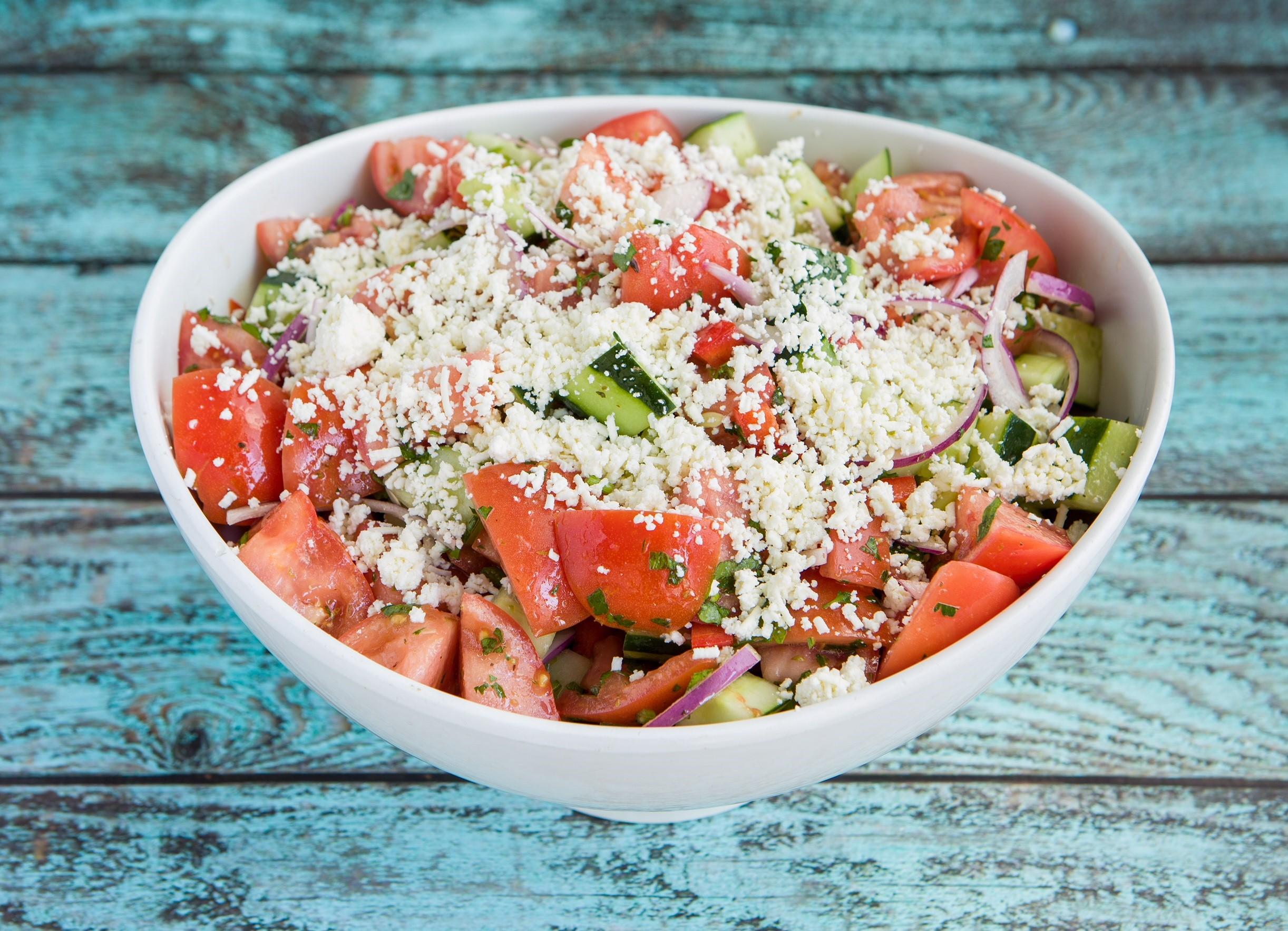 Horiatiki (Village Salad) $4.95