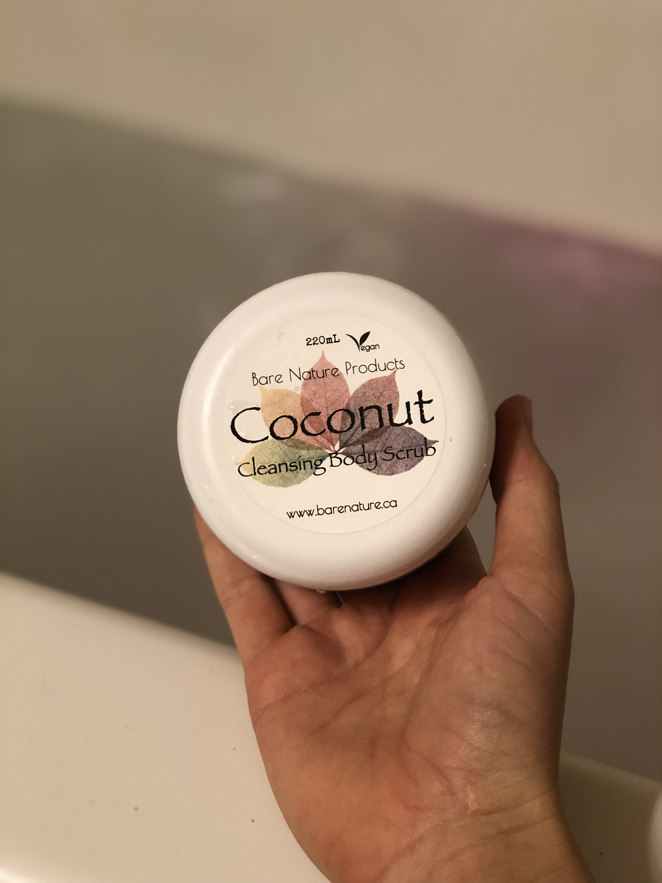 this is my #1 go-to scrub right now from Bare Nature Products. I met the girl who makes and sells these all natural products at the Okanagan Yoga Festival this summer in Osoyoos and I was stoked to try it out, it's been AMAZING. You can find her on instagram or at the Farmers Market!