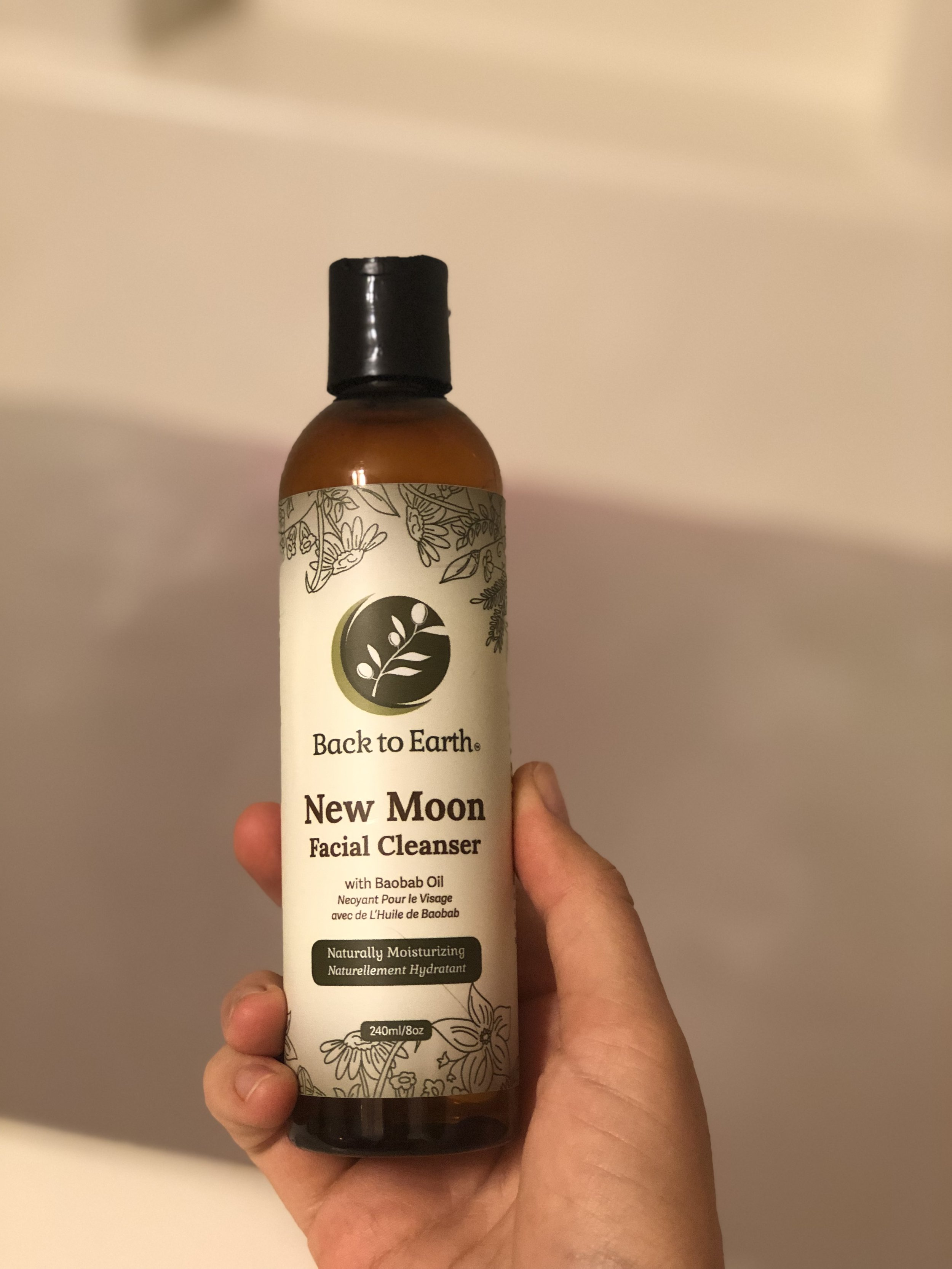 this is my face cleanser right now. It is SO clean feeling and I LOVE THAT. It smells minty and feels so good when you wash your neck and chest before bed! I also use this on my upper arms, upper back and chest and where I'm more prone to get pimples from all the sweatiness of my life.