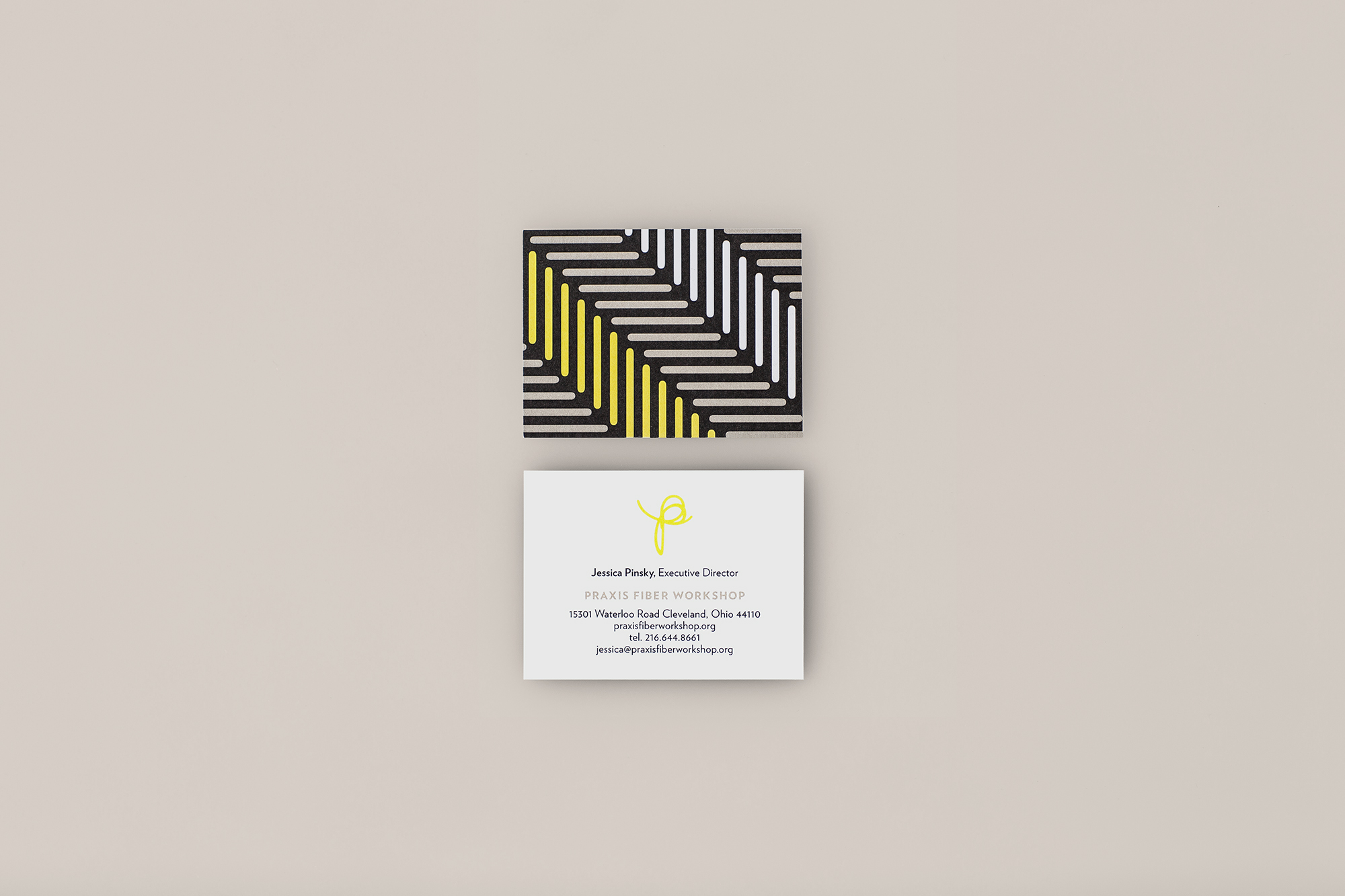 Agnes Studio Praxis Fiber Workshop business card