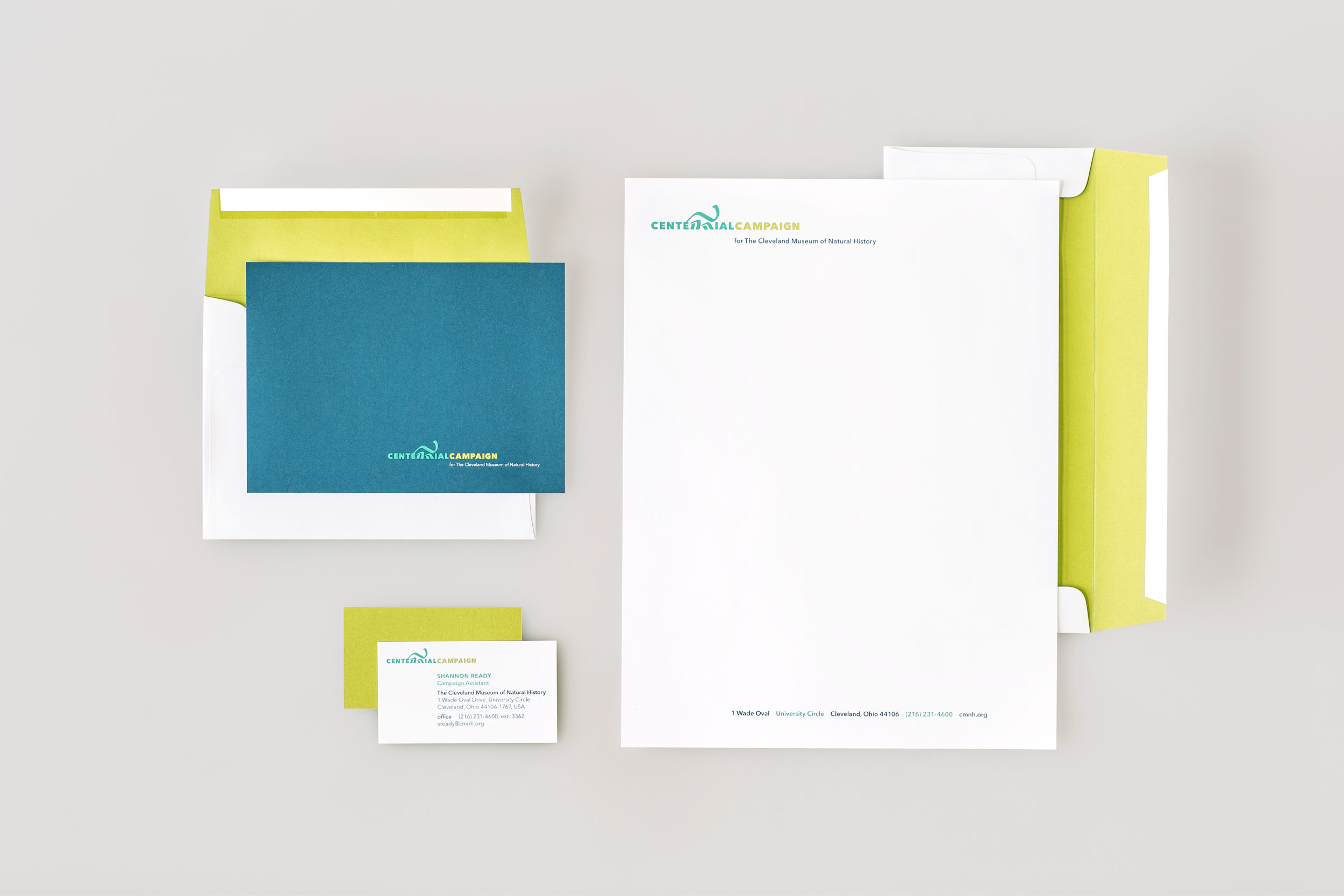 Agnes Studio Cleveland Museum of Natural History Centennial Campaign stationery