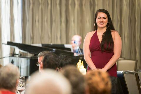 Northwestern Scholarship winner Lucy Godinez at the Actor of the Year Gala