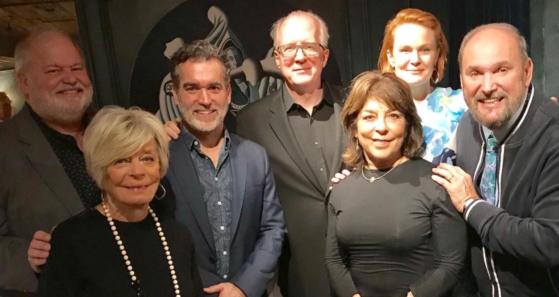 President Martin Balogh, Board Member Sherry Hoel, Brian D'Arcy James, Tracy Letts, Board Member Karen Shankman and Artistic Advisor Dominic Missimi.