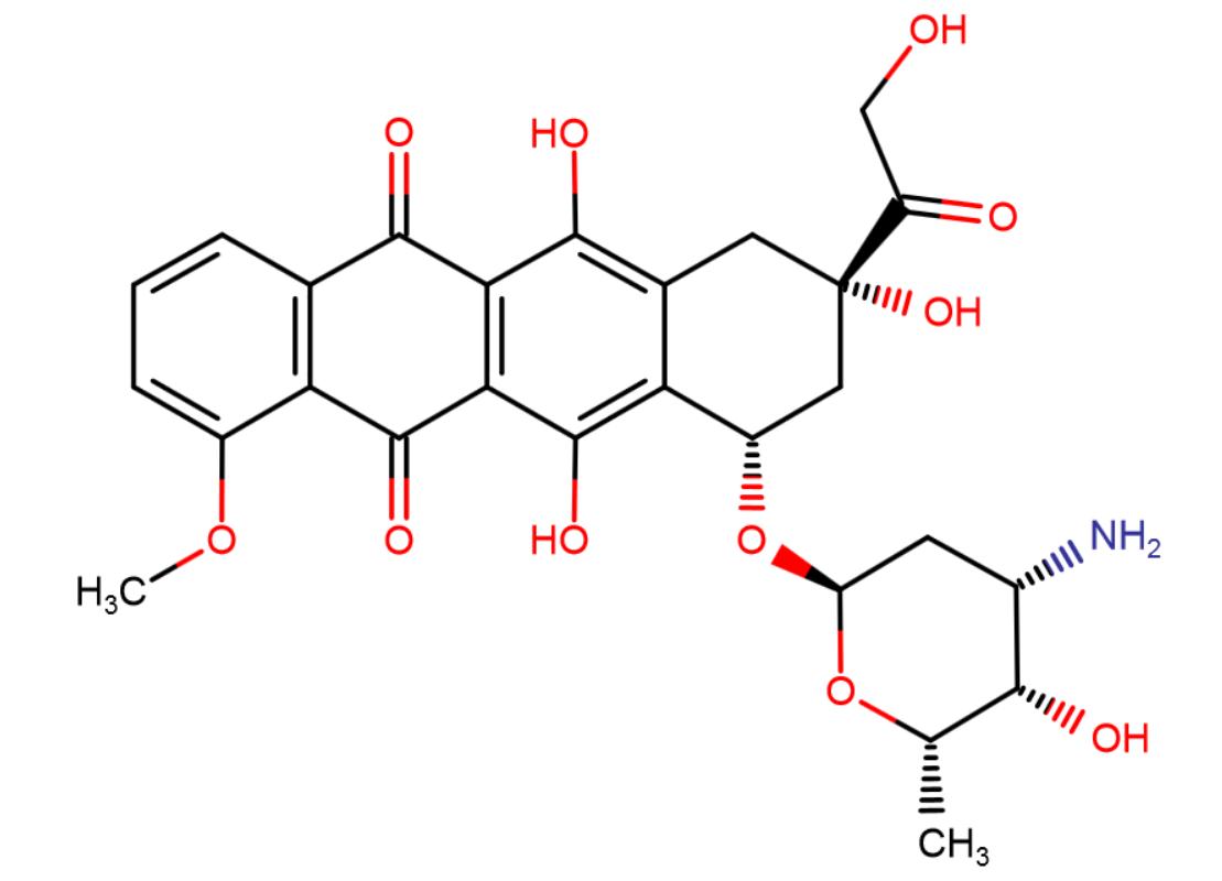 Doxorubicin (Adriamycin) Chemical Structure