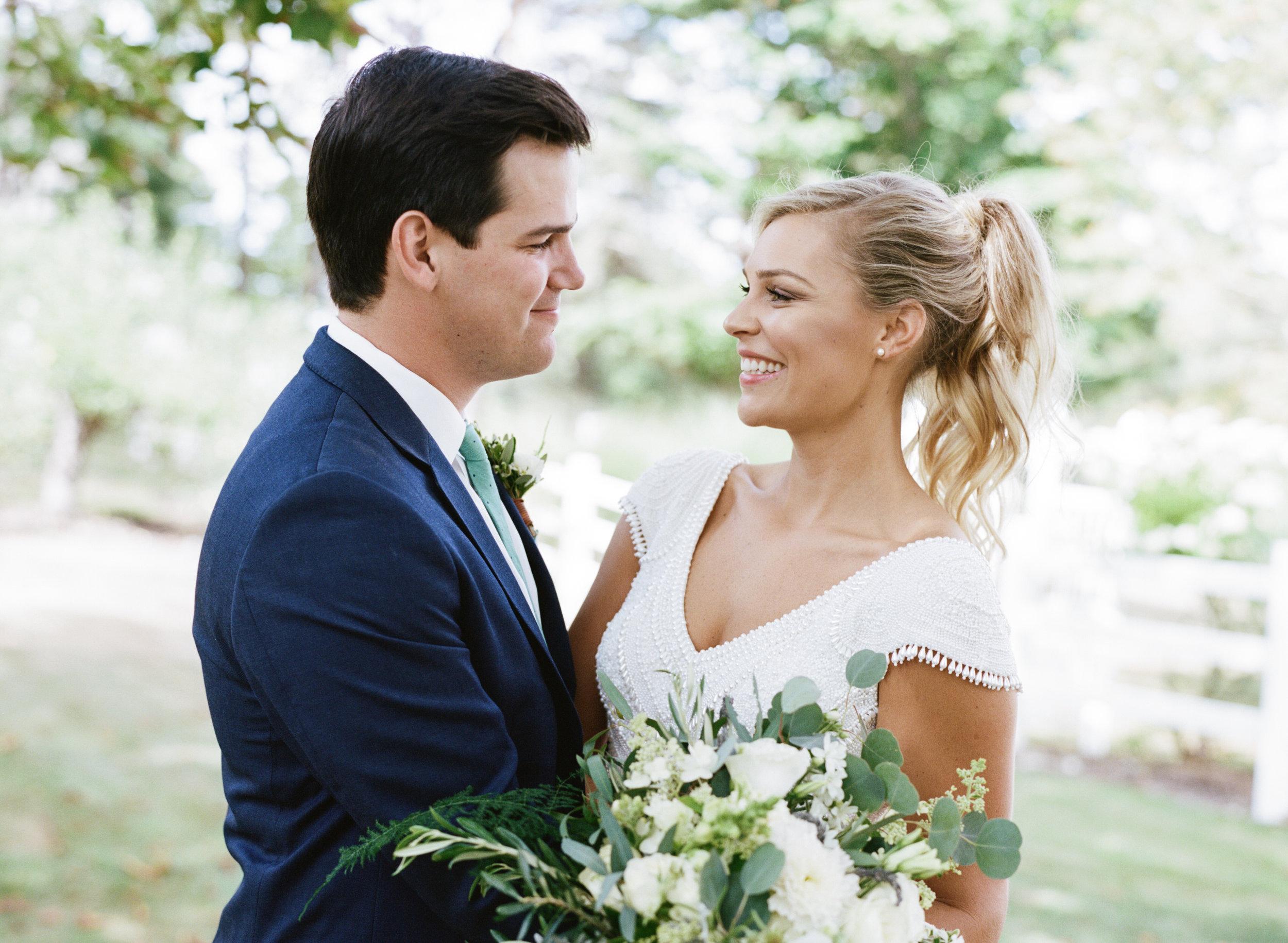 sophisticated wedding couple maine