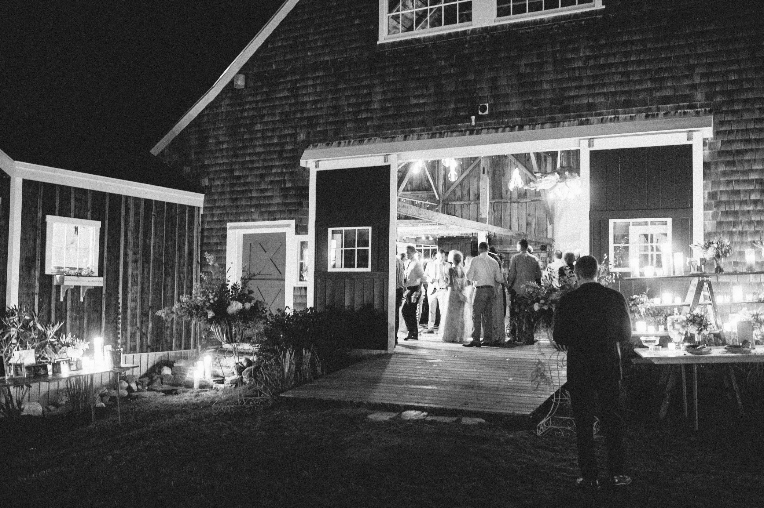 maine barn wedding reception
