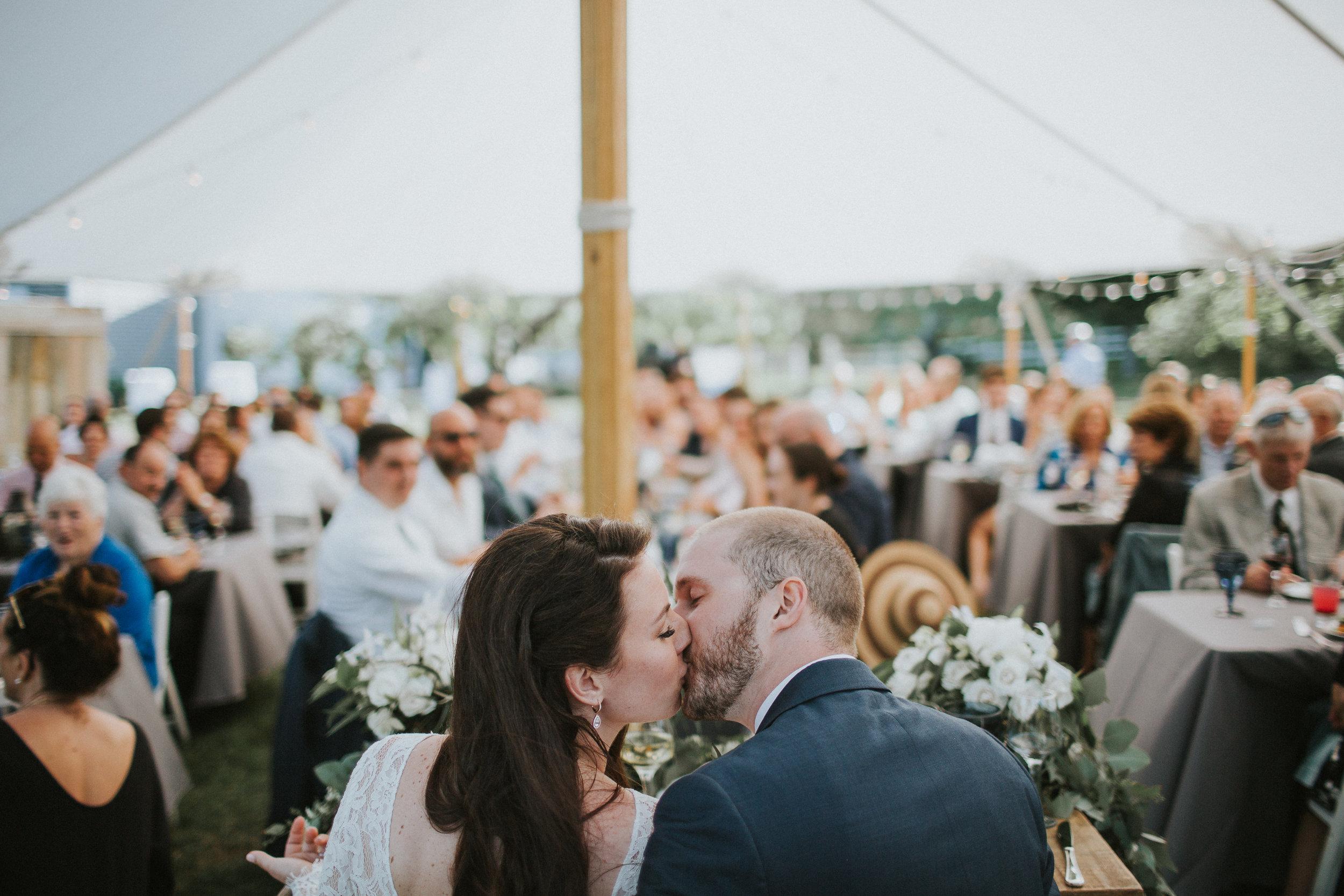 sailcloth tent maine wedding reception