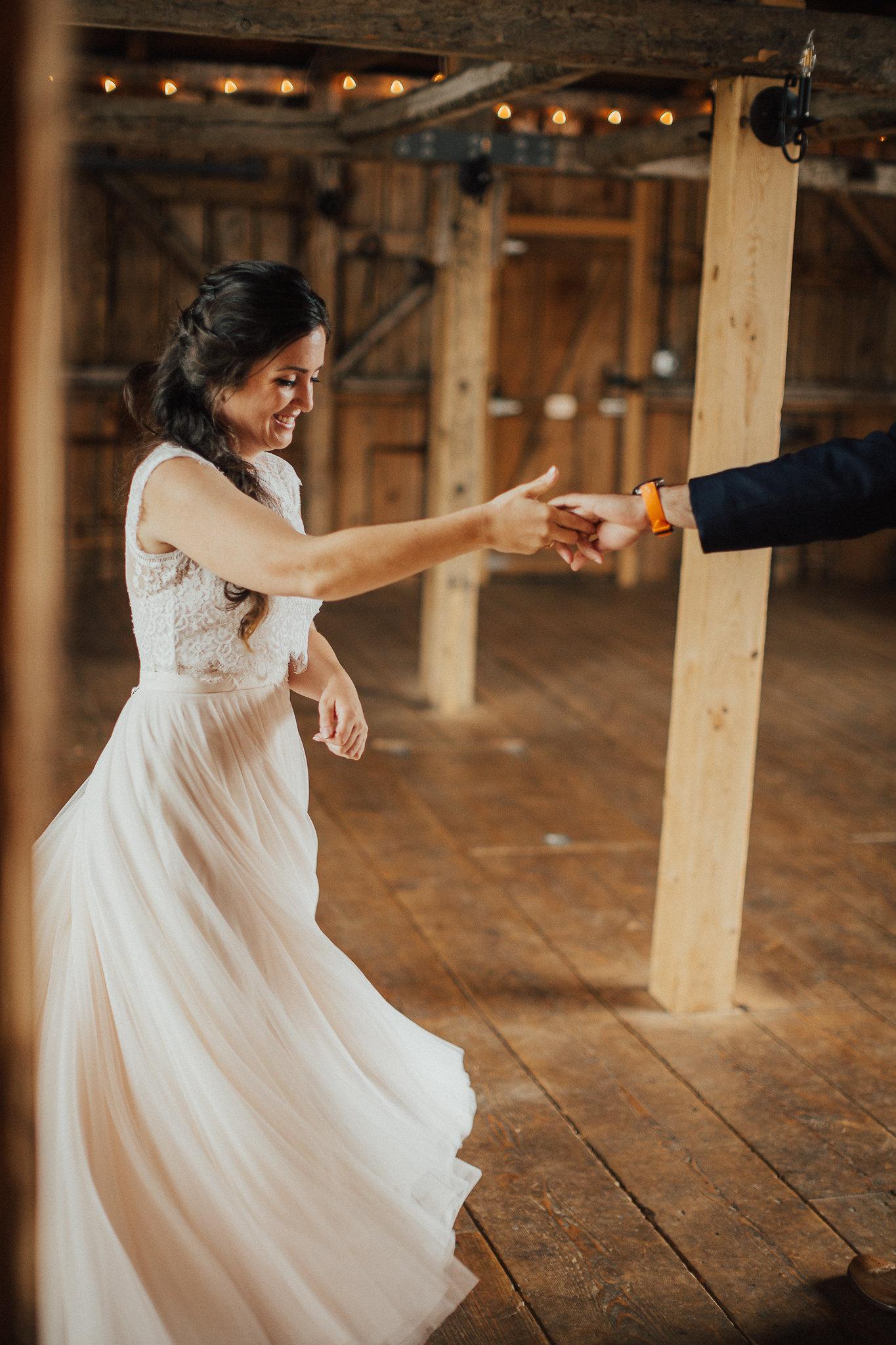 first dance twirl maine barn