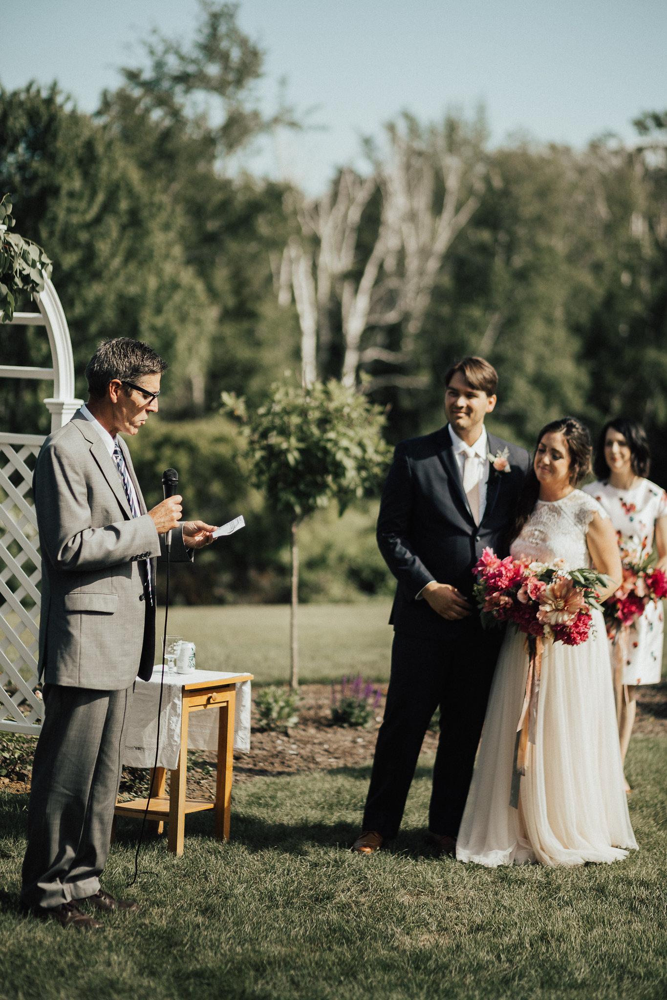 outdoor wedding ceremony lush