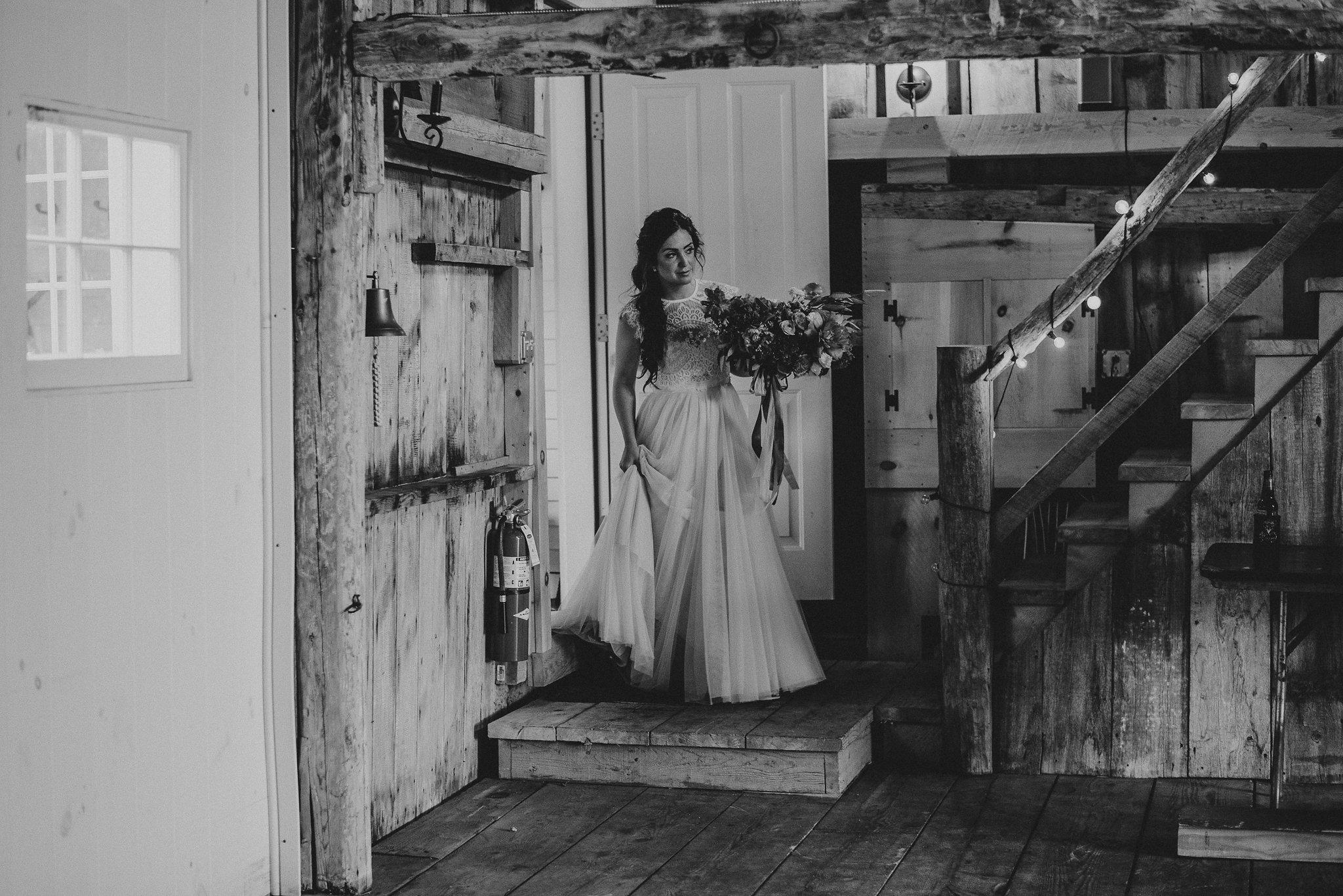 bride portrait black white photography live well farm