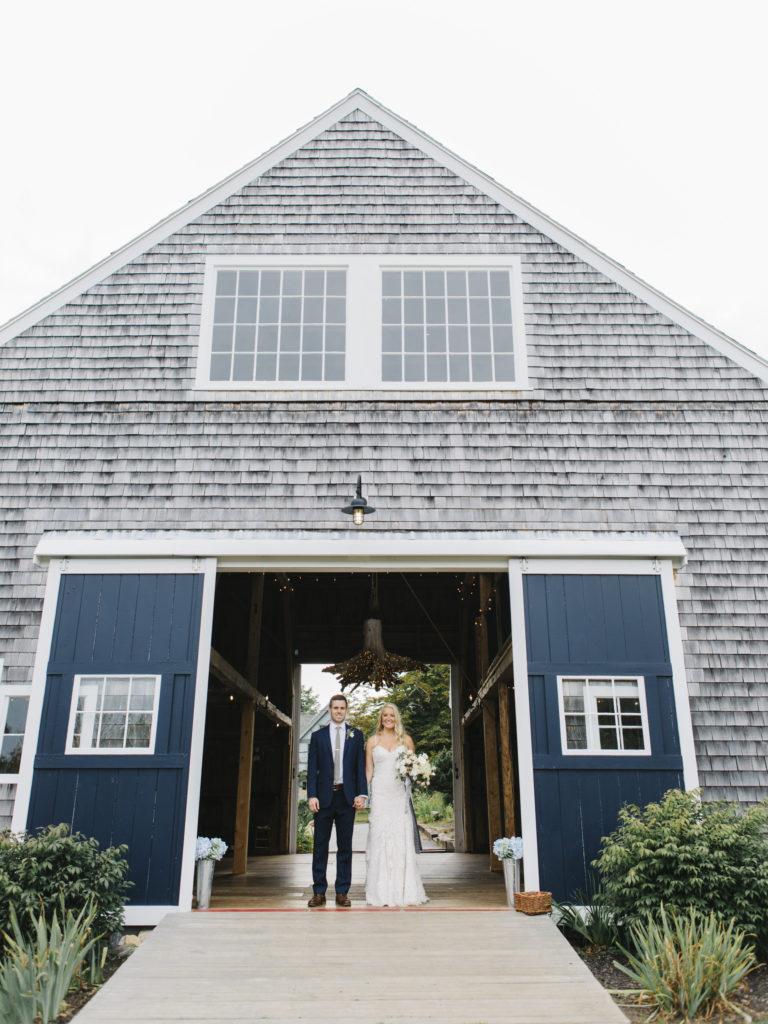 elegant maine barn wedding