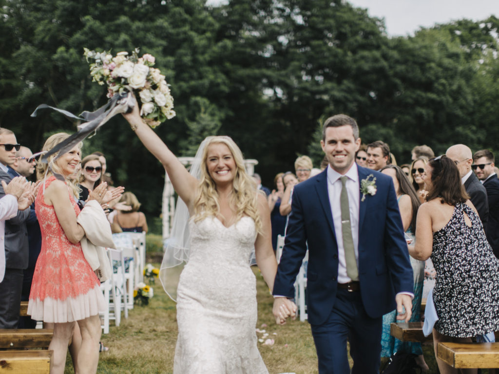 outdoor ceremony live well farm maine
