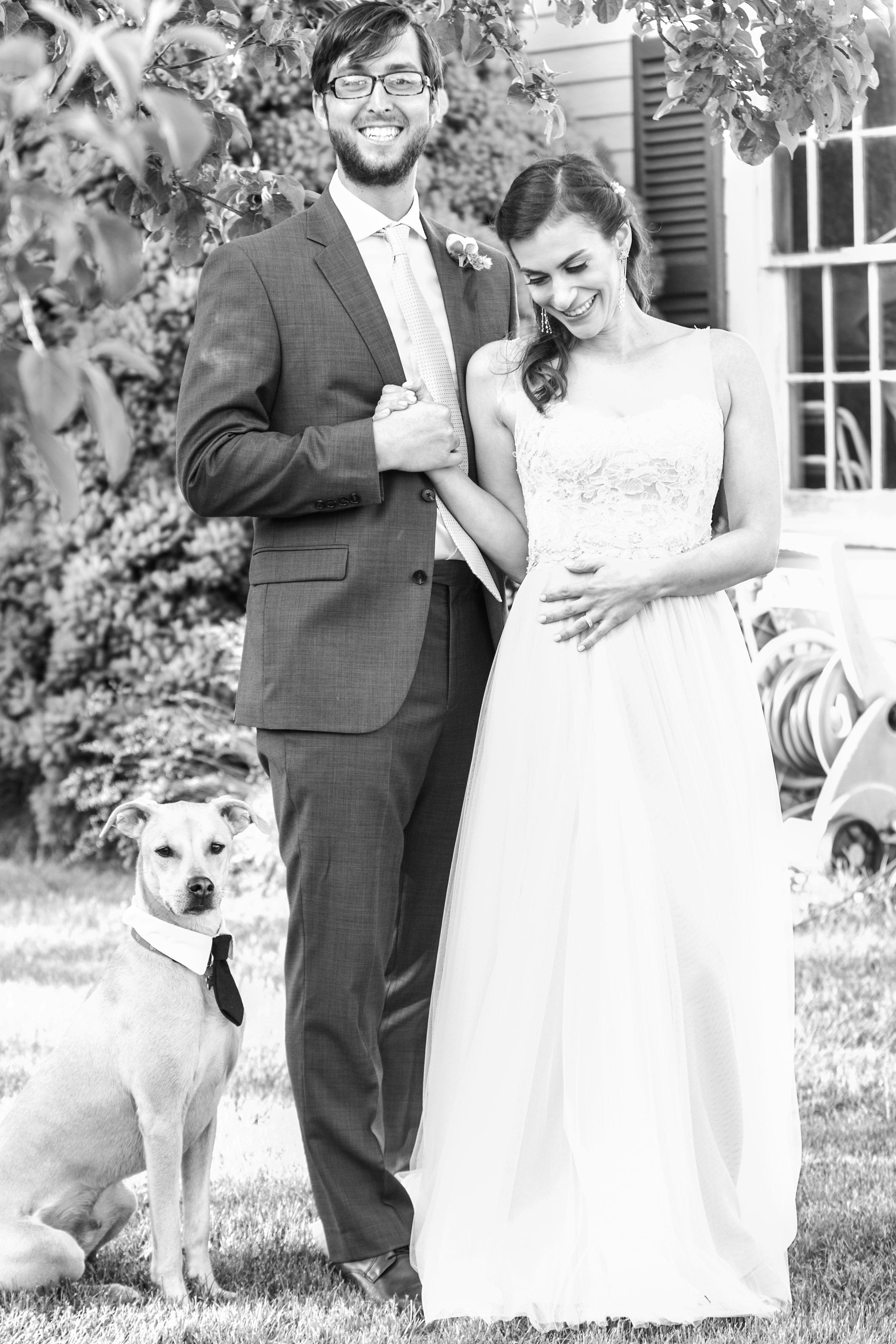 newlyweds maine garden wedding