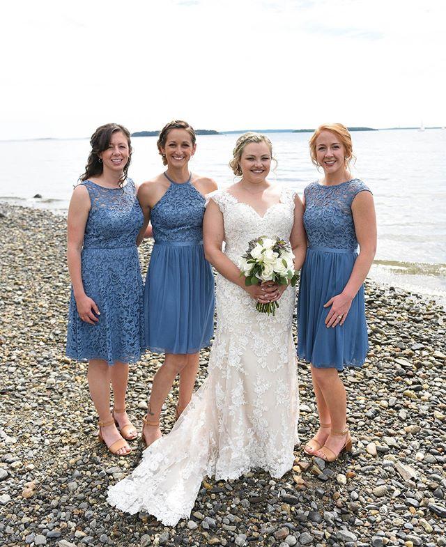 Kelsey with her ladies in blue on a spectacular June day!  . #livewellfarm . Kelsey + Andrew | June 16, 2018 | Venue: @livewellfarm | Coordinator: @audreejean | Catering: @pizzabyfire | Bartending: @julzees29 #downeastbartending | Music: @djmarksawyer | Rentals: @coastalmainecanopies | Photographer: @bailey_w.photography | Florals: @flowergirlweddingdesigns | Cake: @thewineybaker  • • • • • #LiveWellLoveWell #CoastalWedding #FarmWedding #FarmWeddingVenue #MaineWedding #APWwedding #WeddingWireRated #NewEnglandWedding #RealWeddingInspiration #MaineWeddingVenue #BarnWedding #MarryInMaine #HuffPostIDo #WeddingPhotoMag #JoyWed #BackyardWedding #207weddings #RusticWeddingChic #WCvendor #RealMaineWeddings #TheMaineBride #ItStartedWithYes #GreenWeddingShoes #TodaysWedding