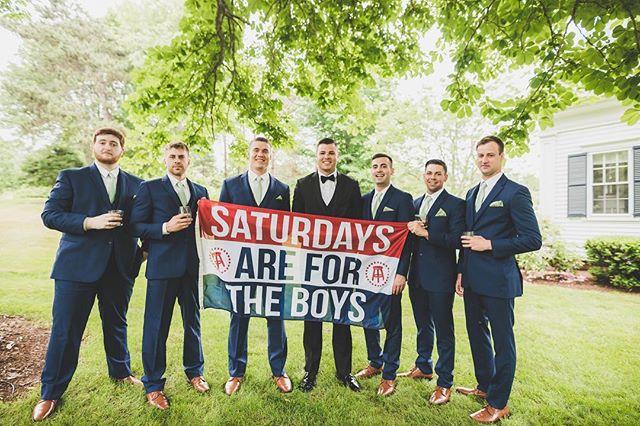 Okay... Saturdays might be for the boys, but swipe and you'll see where Matt's affection truly lies! (Hint... it's not with the boys. Sorry, boys)⠀ .⠀ #livewellfarm #AmandaMetHerMATTch⠀ .⠀ Amanda + Matt | June 30, 2018 | Venue: @livewellfarm | Event Coordination: @genevamwc #genevamwc | Catering: @macs.bbq | Bartending: Mainely Bartenders | Music: @djdewees | Rentals: @savvyeventrental | Photographer: @benwheelerphotography | Florals: @flowergirlweddingdesigns | Videographer: @fatsheamus | Dessert: @brickhouse_bakery⠀ •⠀ •⠀ •⠀ •⠀ •⠀ #LiveWellLoveWell #CoastalWedding #FarmWedding #FarmWeddingVenue #MaineWedding #APWwedding #WeddingWireRated #NewEnglandWedding #RealWeddingInspiration #MaineWeddingVenue #BarnWedding #MarryInMaine #HuffPostIDo #WeddingPhotoMag #JoyWed #BackyardWedding #207weddings #RusticWeddingChic #WCvendor #RealMaineWeddings #TheMaineBride #ItStartedWithYes #GreenWeddingShoes #TodaysWedding⠀