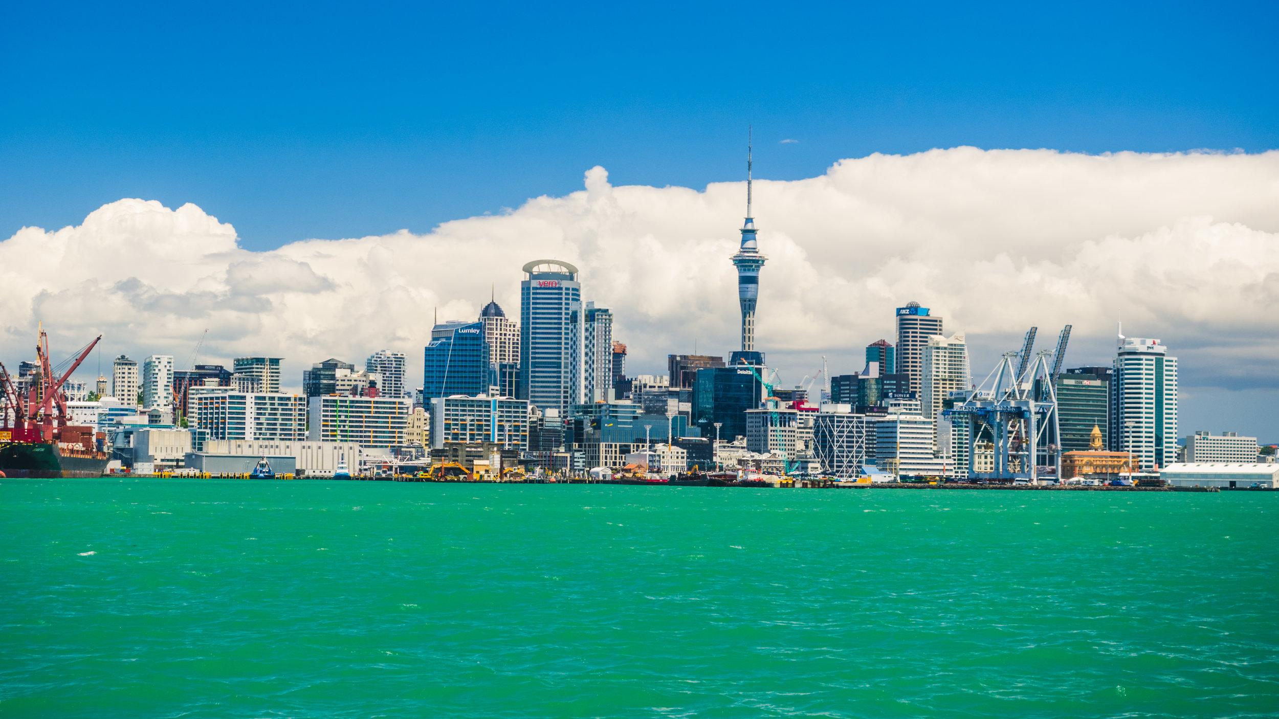 Auckland via Ferry