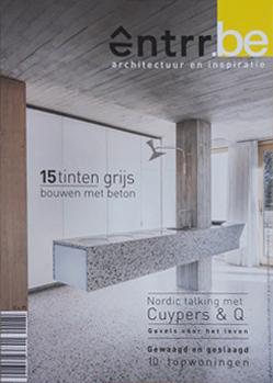 Publicatie VERONICA in het nieuwe entrr(.be) magazine! - VERONICA: 'RUIMTELIJK IN DE RIJ'15 tinten grijs, bouwen met beton