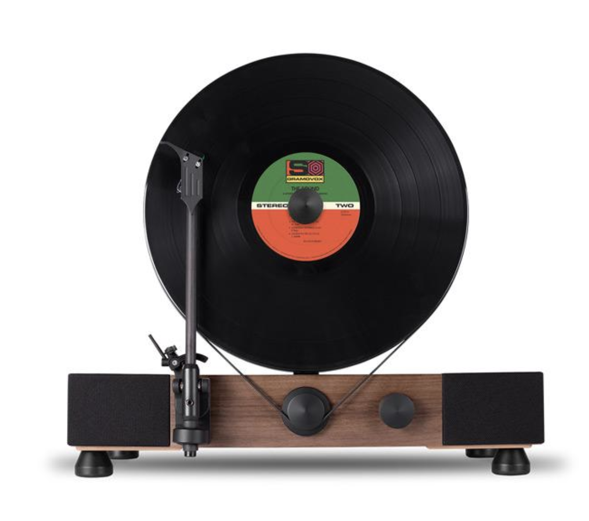 2.  Floating Record Player.  Here is another gift I've had my eye on... a floating record player. This style of record player was popular for a while in the 70's and I think they look cool.