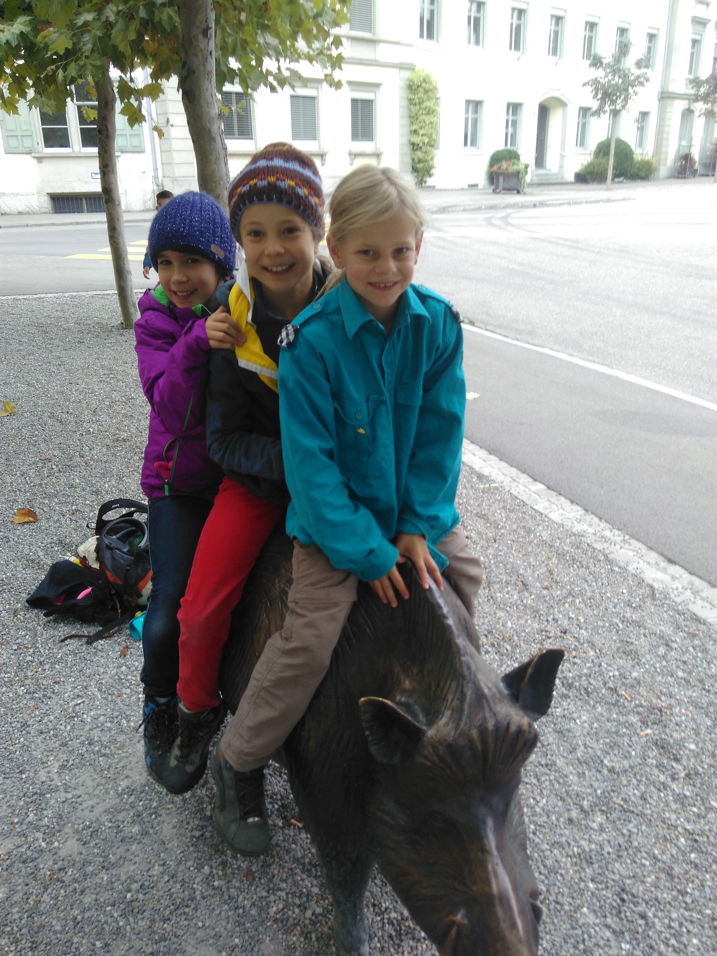 Drei Reiterinnen der etwas anderen Art