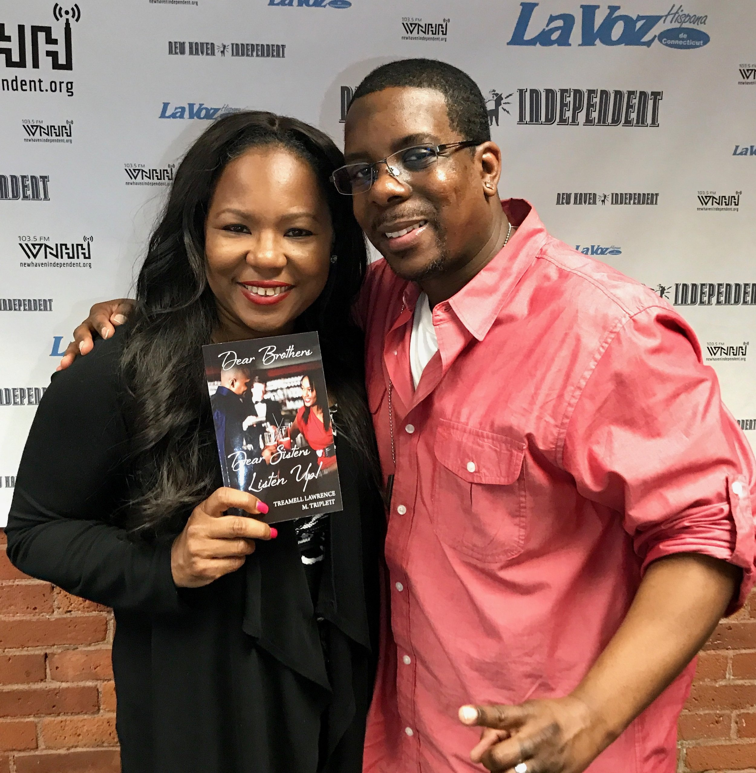 """Today on """"The Talk-Sip"""" host Alisa Bowens-Mercado talks with Author Treamell Lawrence about his book 'Dear Brothers Dear Sisters Listen Up!'"""
