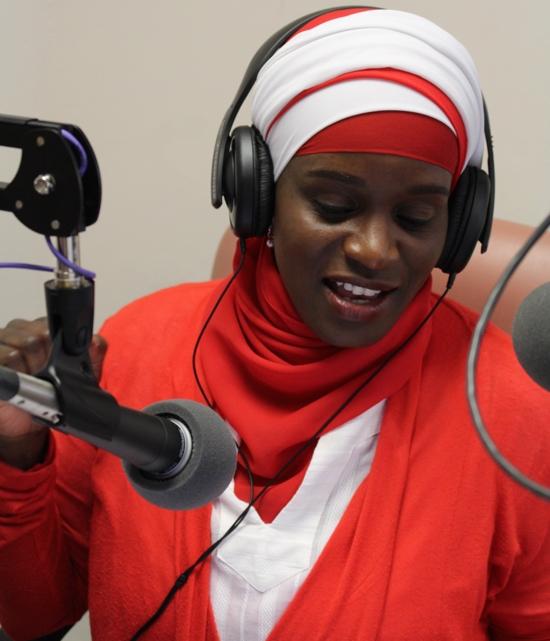 Host Mubarakah Ibrahim gives her audience a lesson in entrepreneurship.