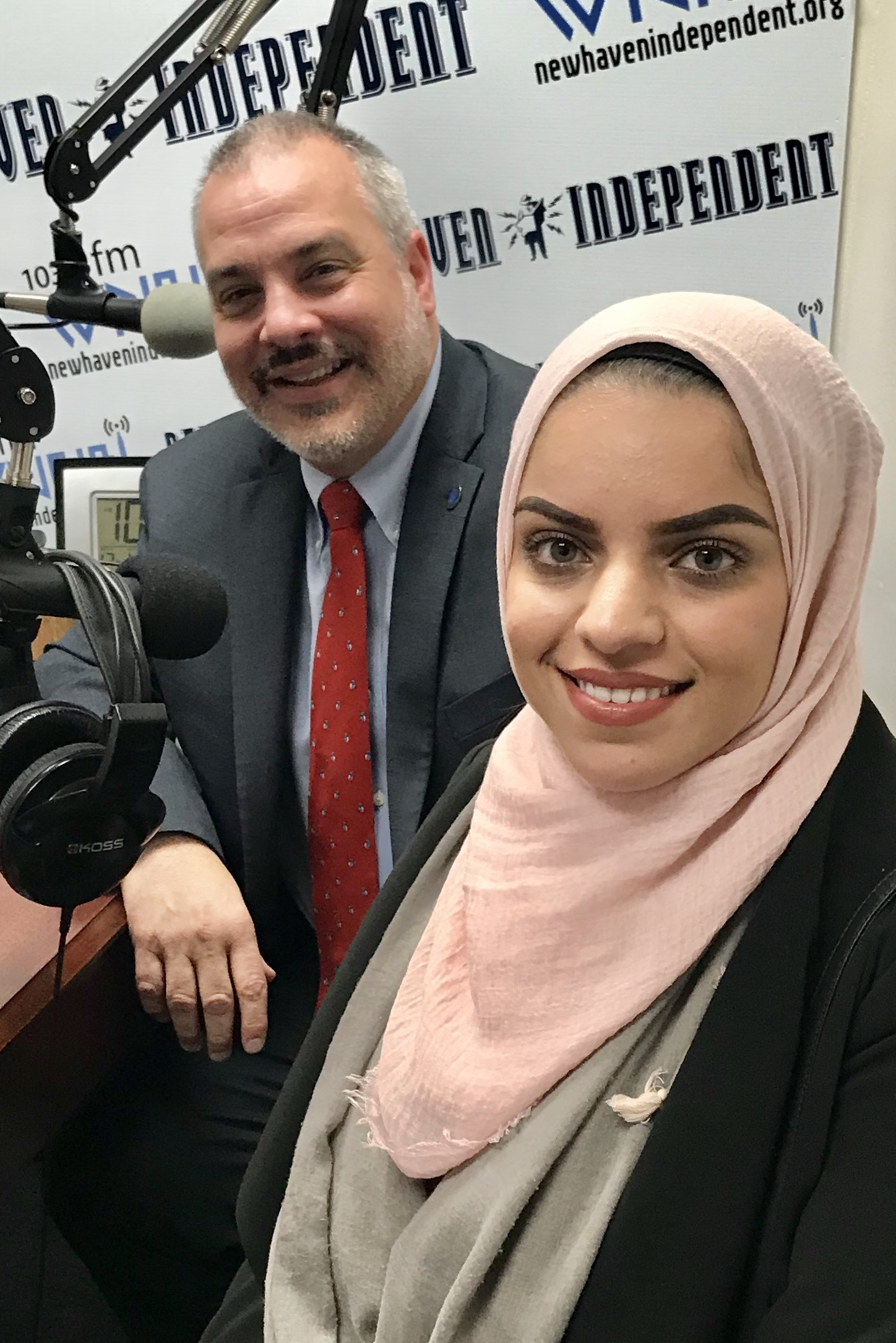 Host Tom Ficklin talks social justice with Joe Bertolino, President SCSU and Bahar Musa, Student SCSU.