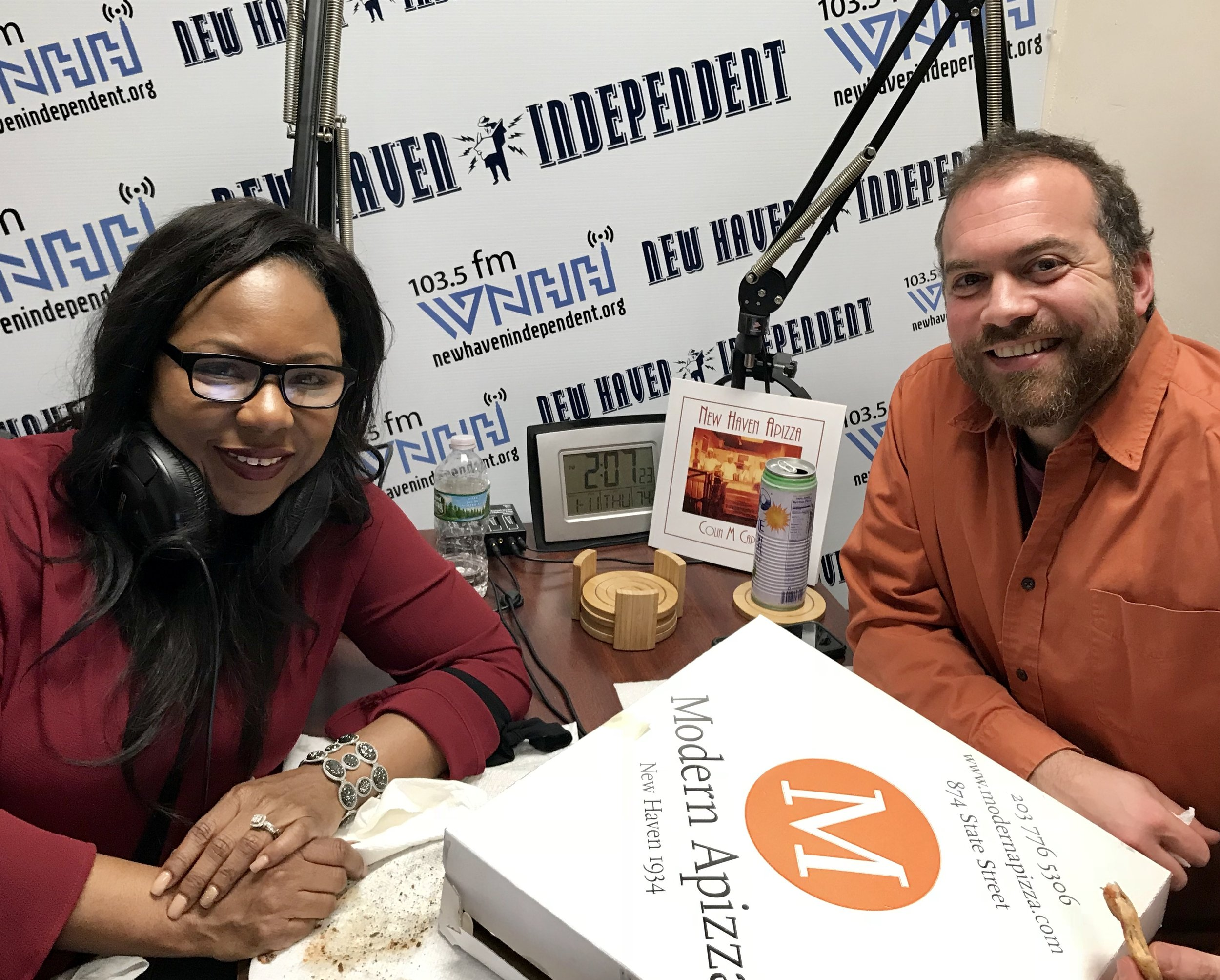 """Host Alisa Bowens-Mercado and special guest Colin Caplan start a new series of shows called """"Pizza With Alisa"""""""