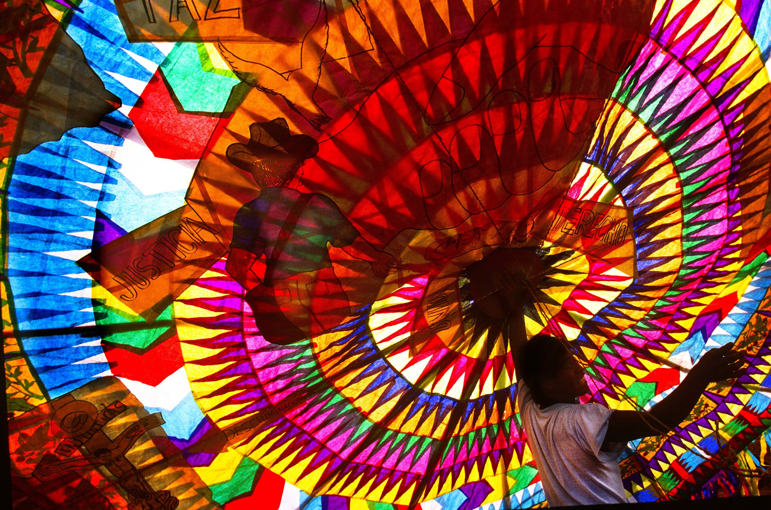 A giant kite ready to fly on All Saints'Day in Guatemala.  Photo by Sherrlyn Borkgren