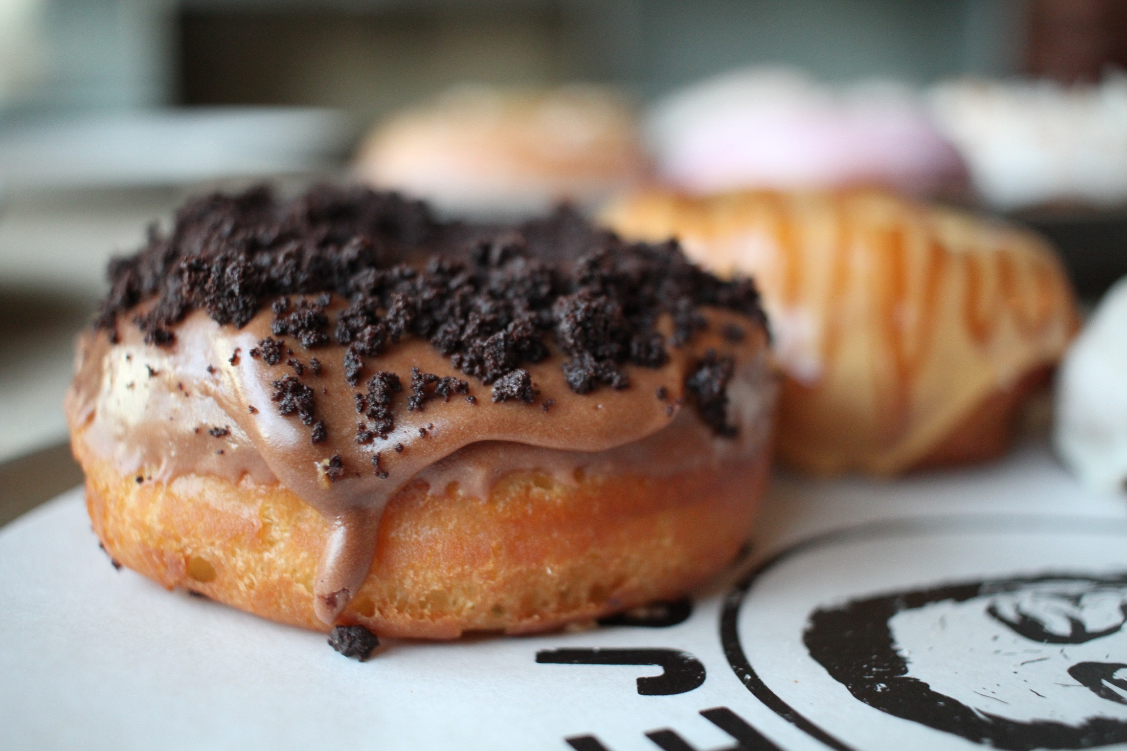 donut with cookie topping