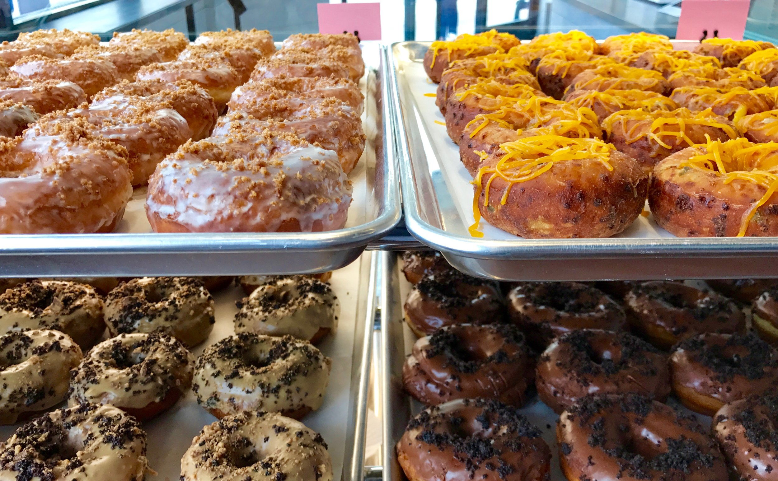pans of donuts