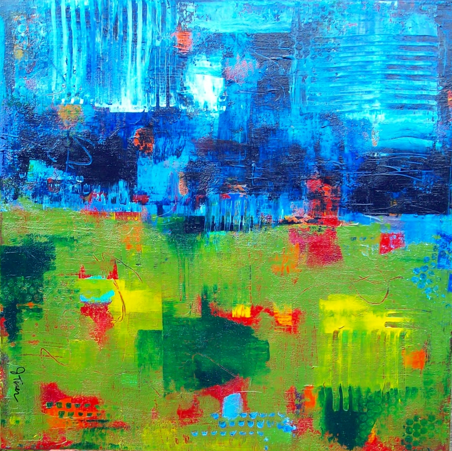 Blue over Green (2013)
