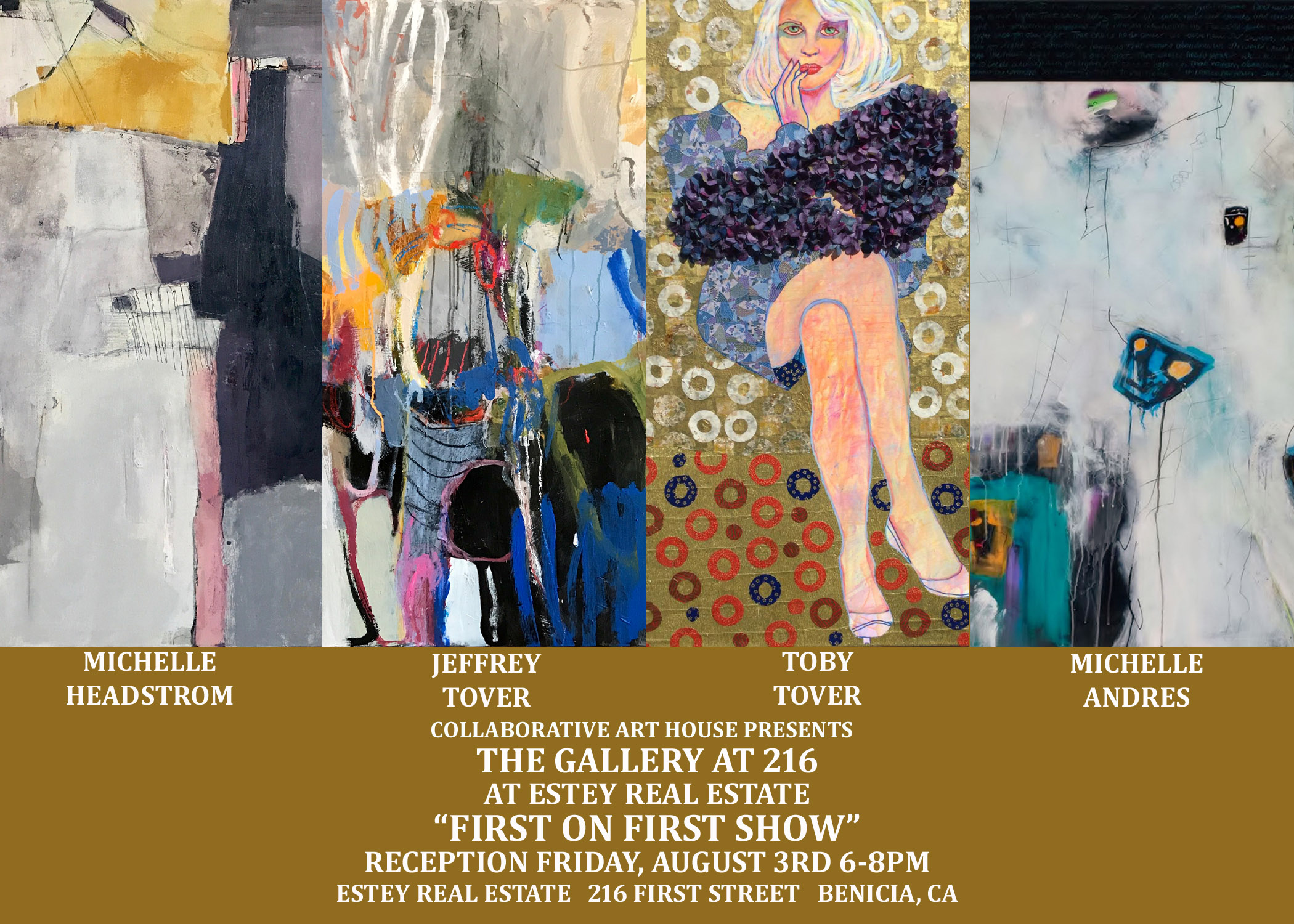 """""""FIRST ON FIRST"""" GROUP SHOW RUNS THROUGH AUGUST 17TH"""